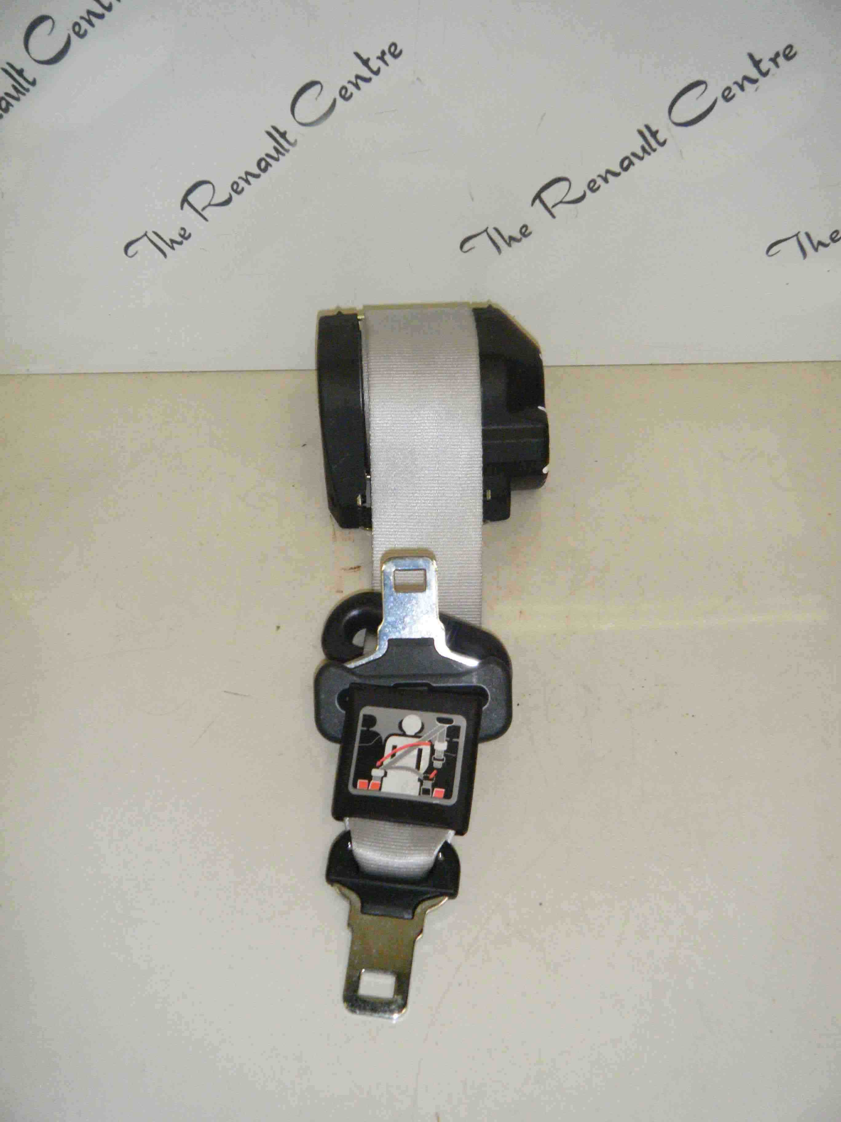Renault Clio MK2 2001-2006 Rear Middle Centre Seat Belt Grey White