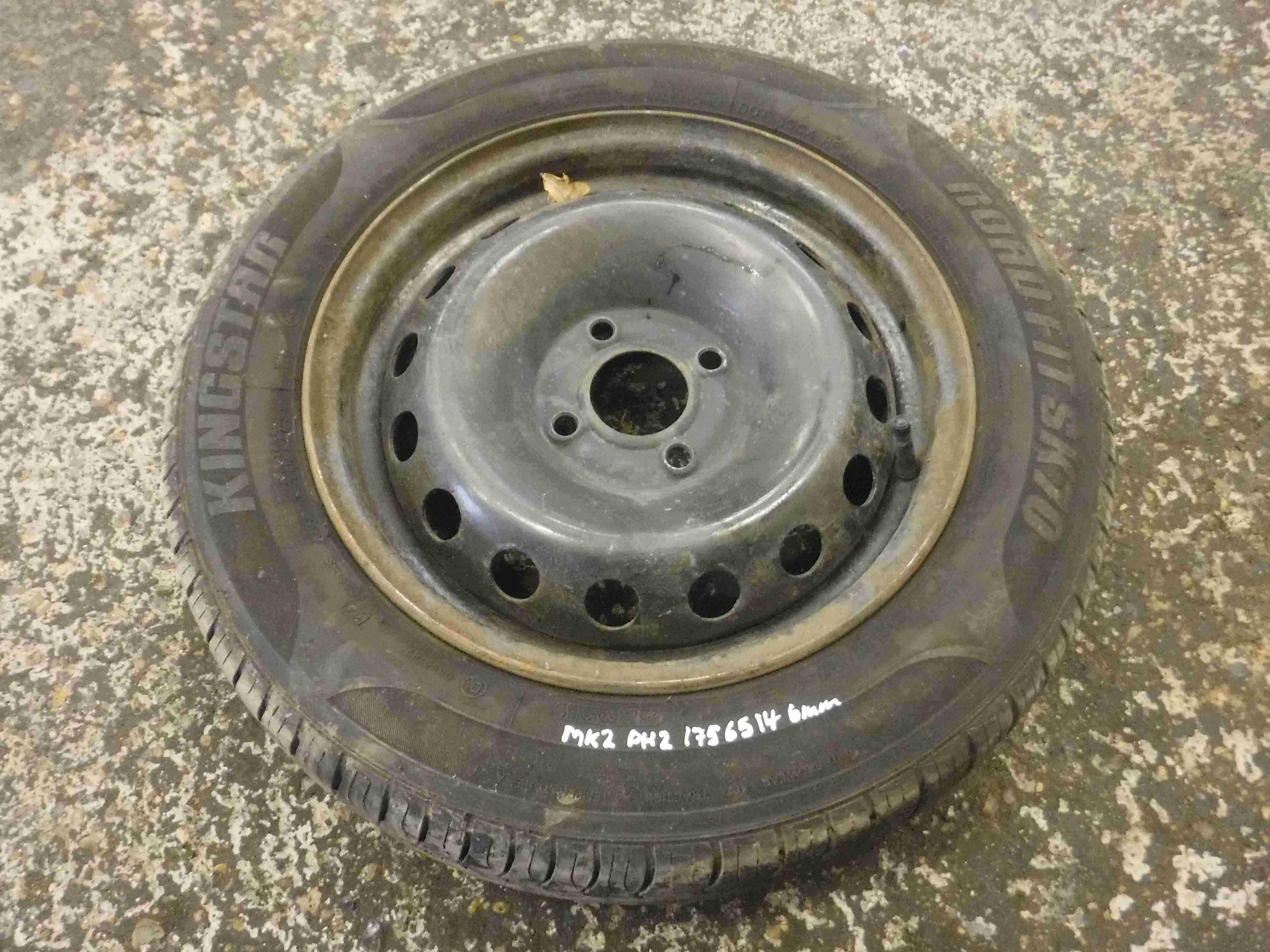 Renault Clio MK2 2001-2006 Steel Wheel Rim + Tyre 175 65 14 6mm Tread 3/5