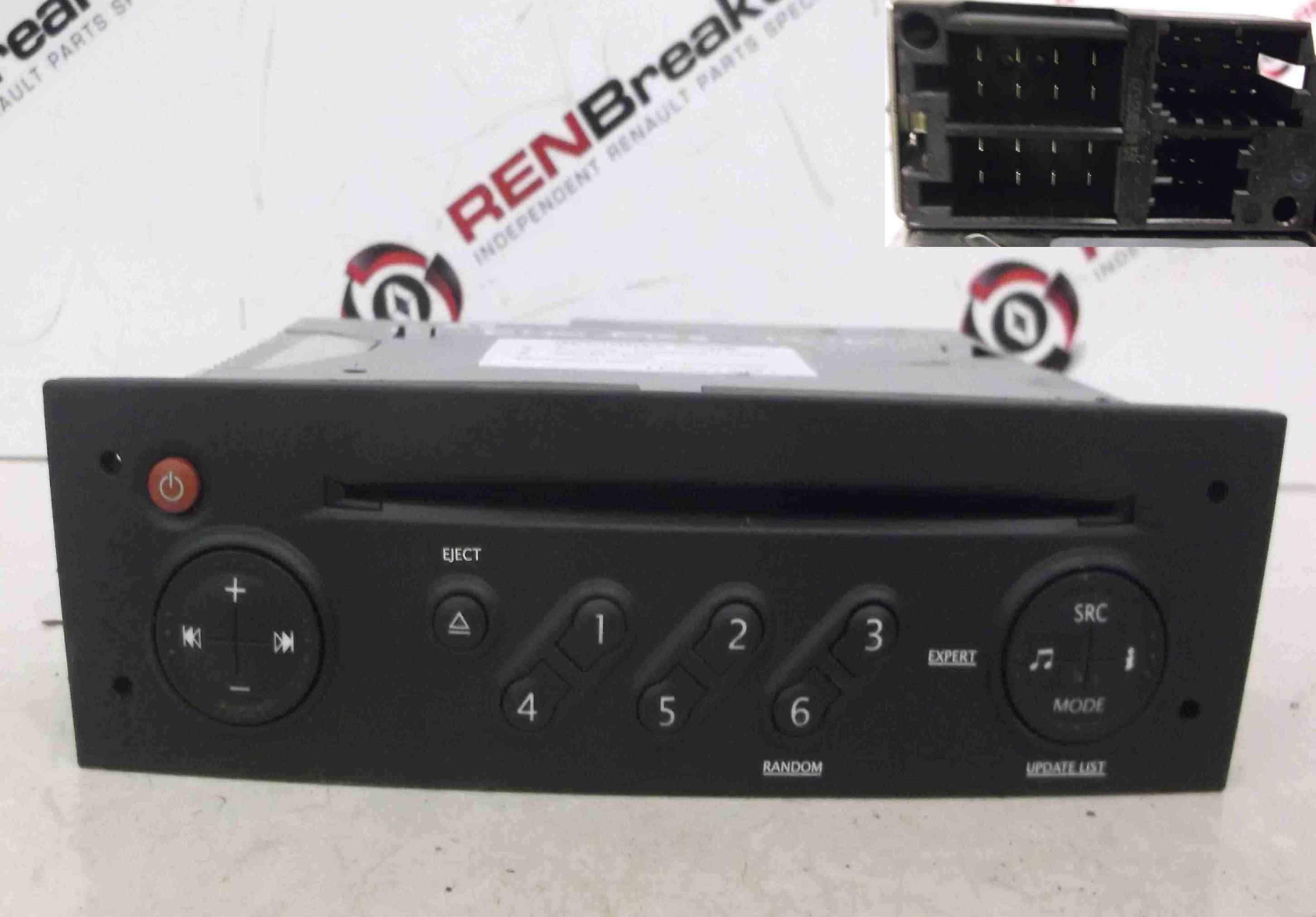 Renault Clio MK3 2005-2009 Cd Player Radio Update List + Code 8200607915