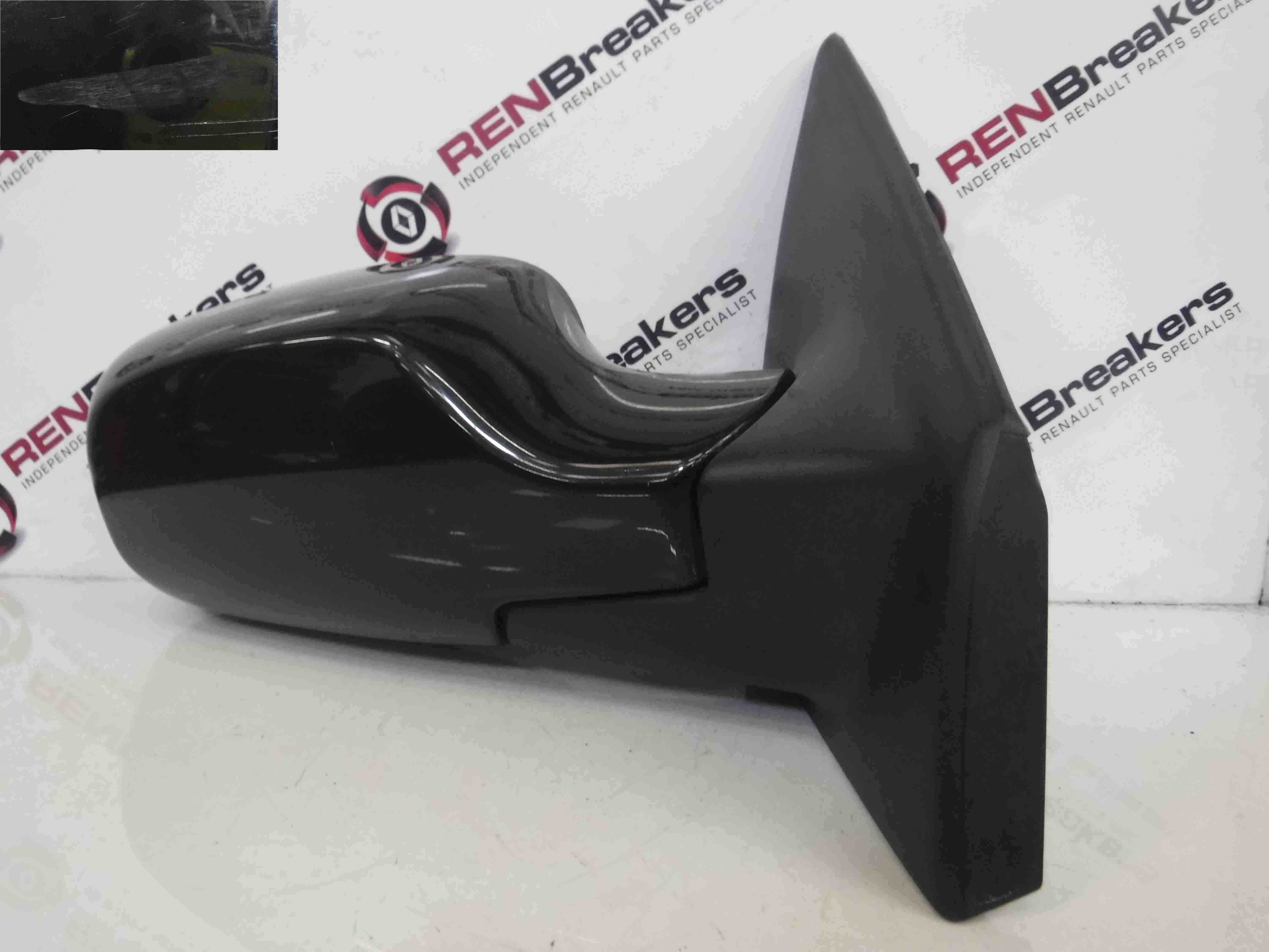 Renault Clio MK3 2005-2009 Drivers OS Wing Mirror Black 676