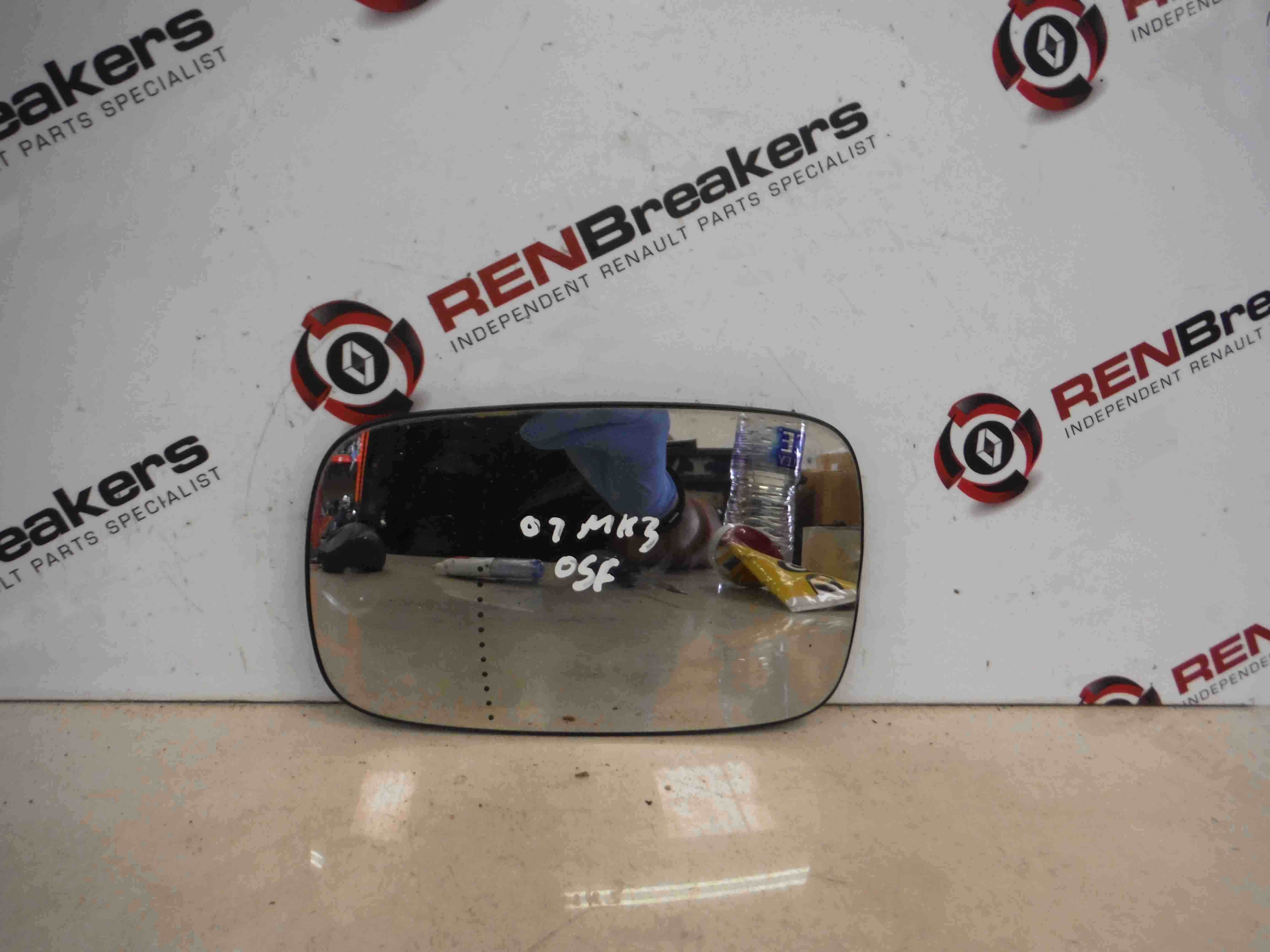 Renault Clio MK3 2005-2009 Drivers OS Wing Mirror Glass 1