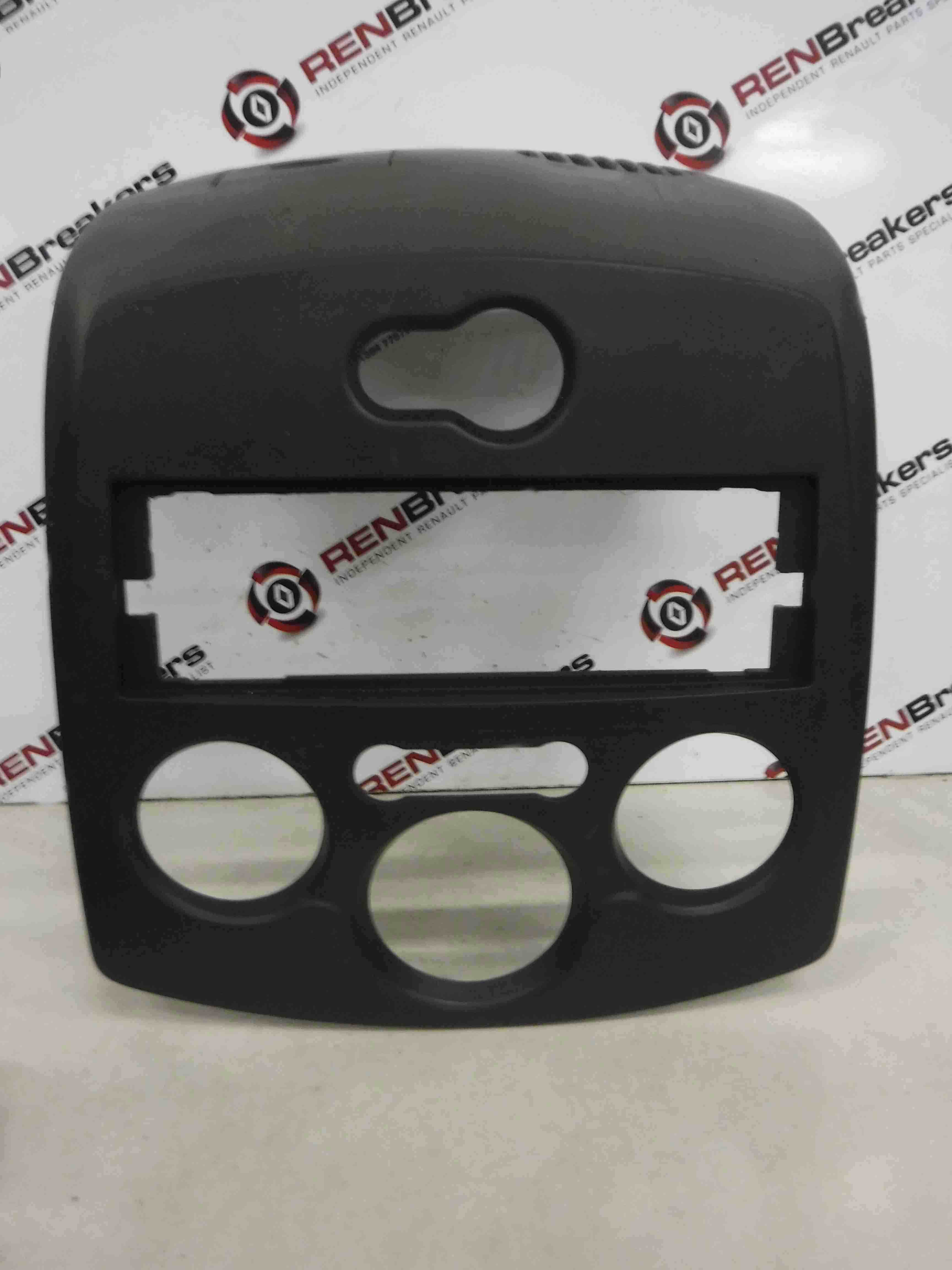Renault Clio MK3 2005-2012 Heater Controls Cd Surround Plastic Black Plain