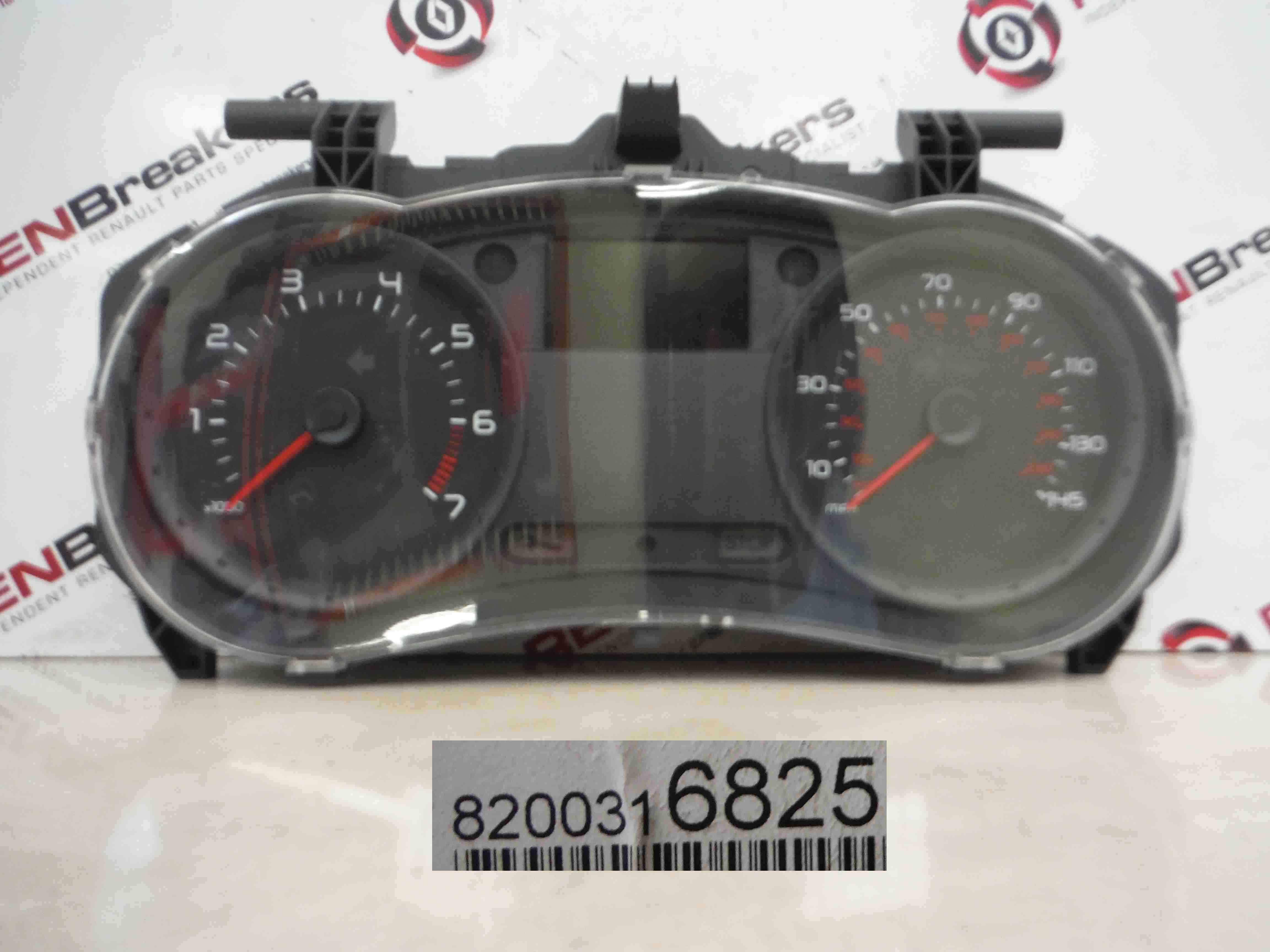 Renault Clio MK3 2005-2009 Instrument Panel Dials Clocks Gauges 51k 8200316825