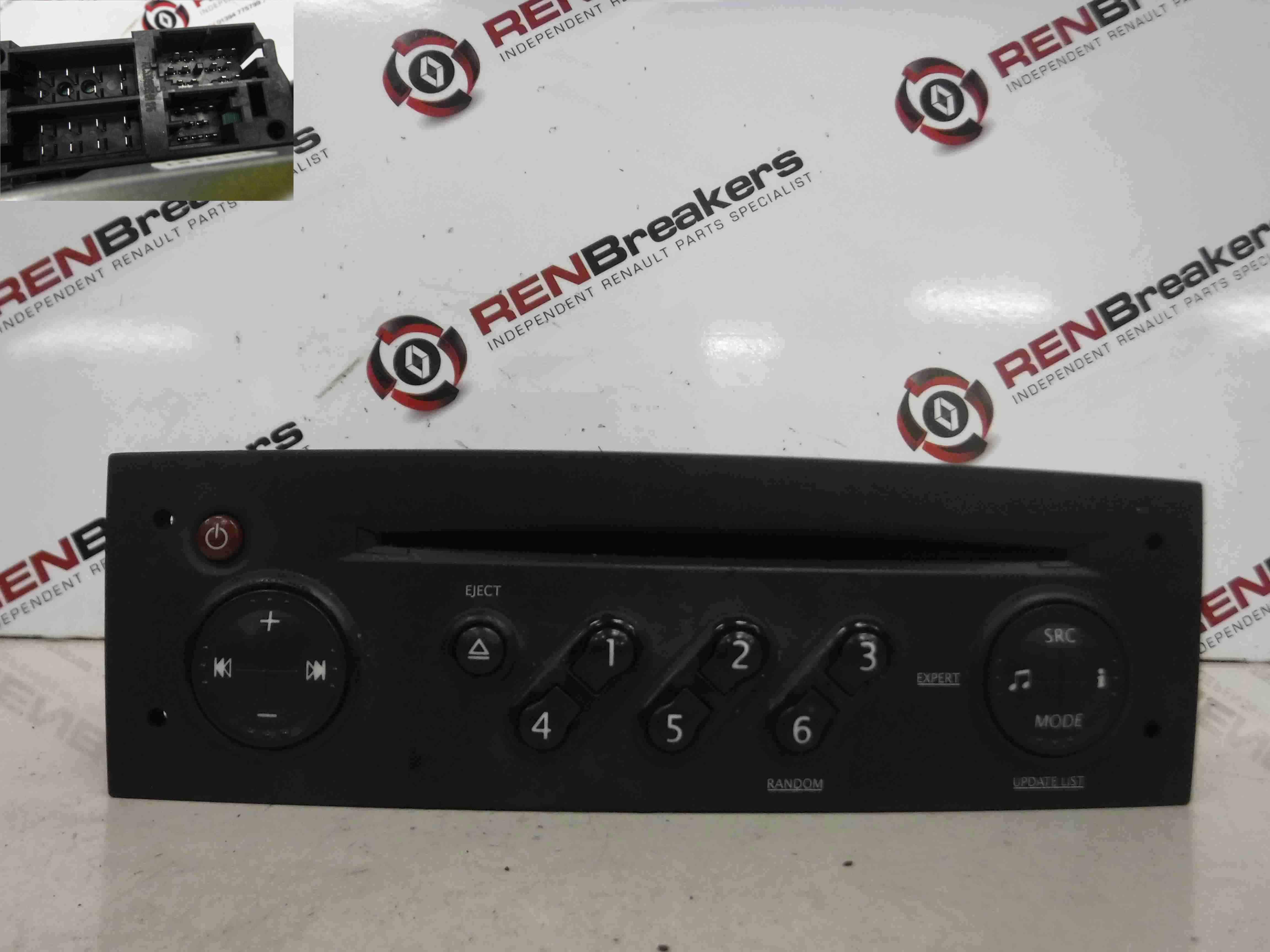 Renault Clio MK3 2005-2009 Radio Cd Player Update List 8200607915