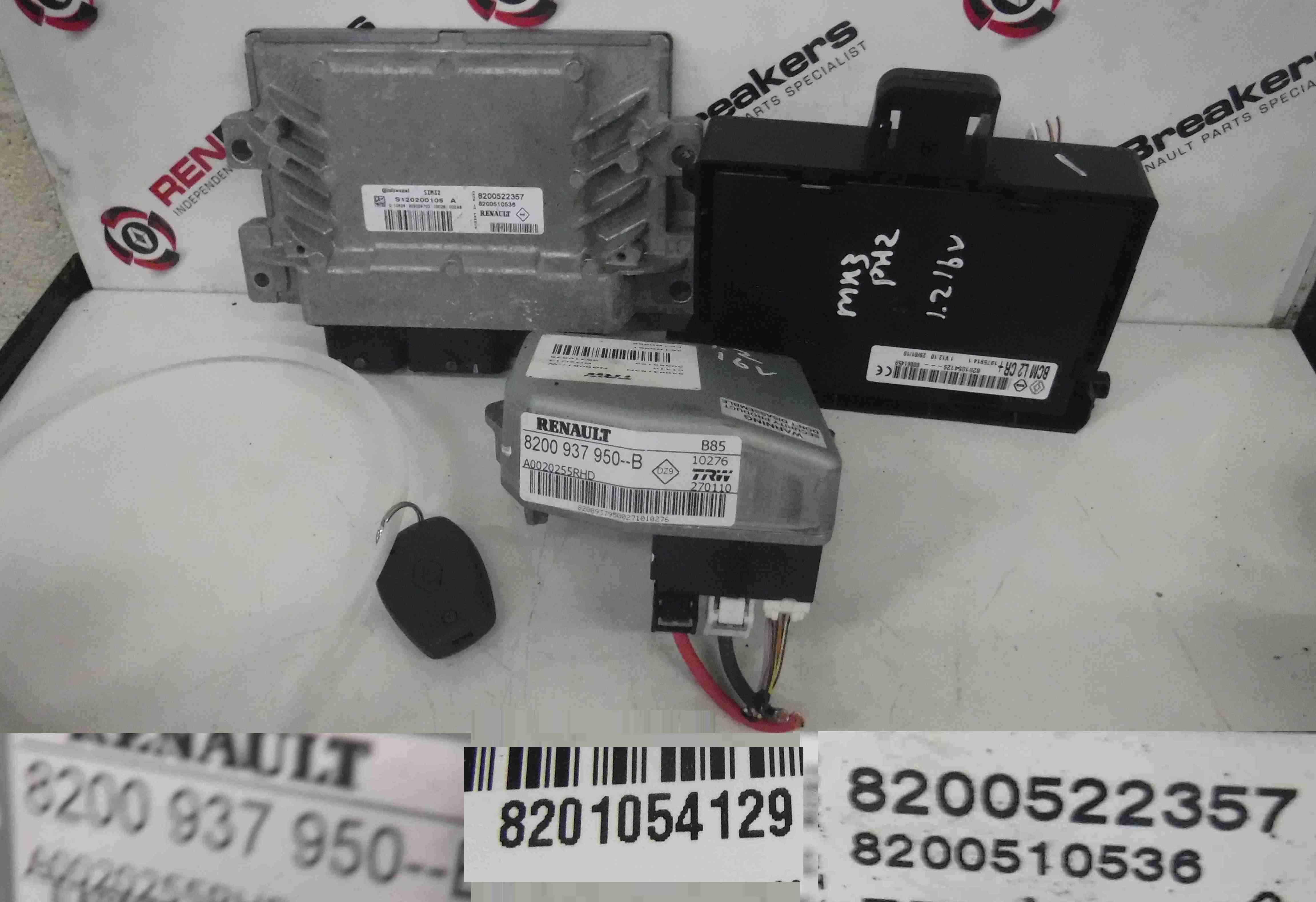 Renault Clio MK3 2005-2012 1.2 16v ECU SET UCH BCM Steering ECU + Key Fob