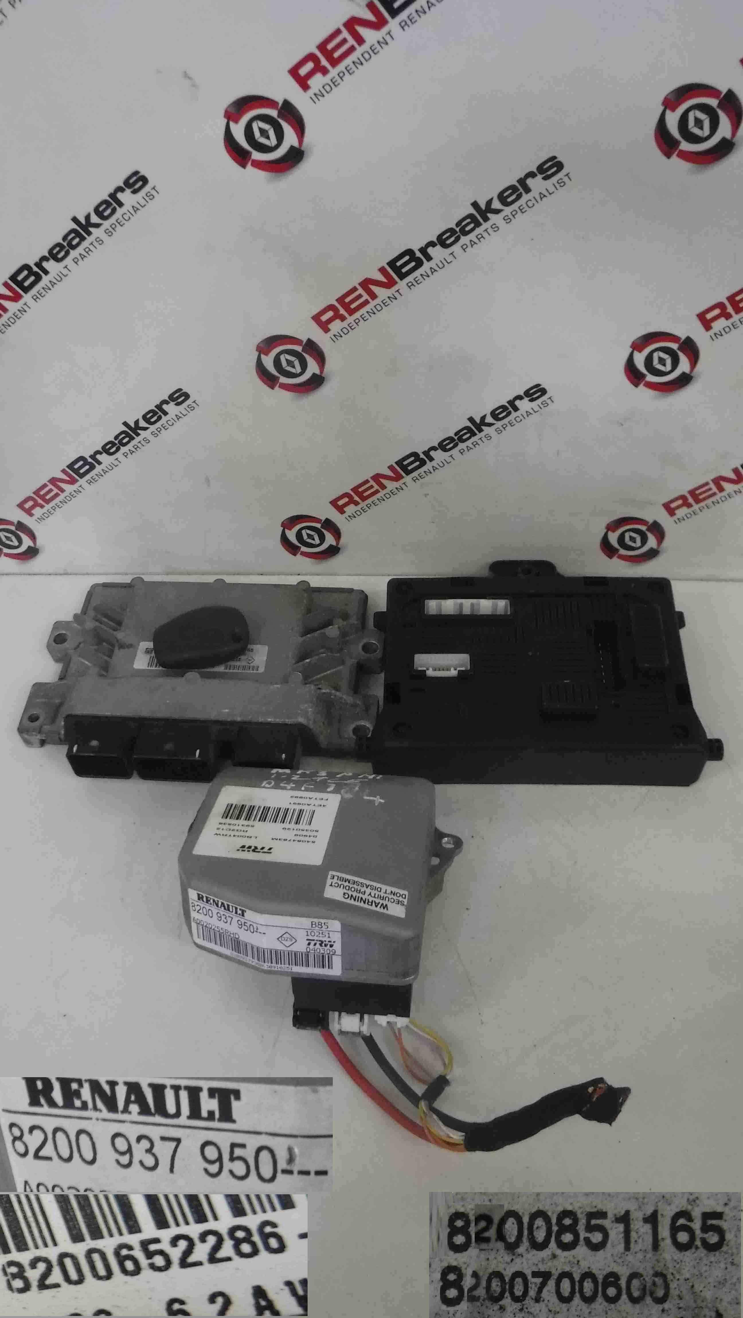 Renault Clio MK3 2005-2012 1.2 tCe ECU SET UCH BCM Immobiliser + Key Fob