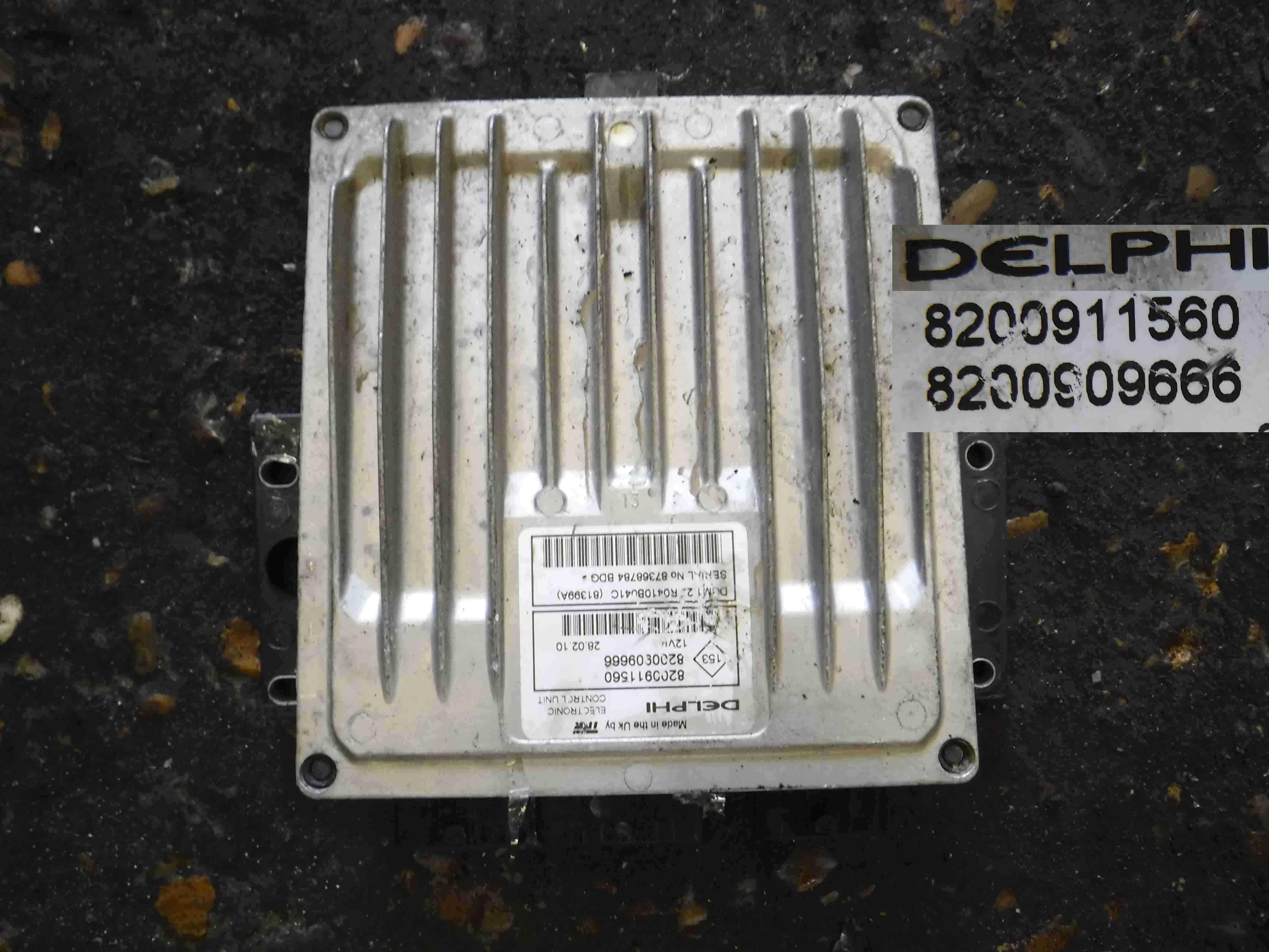 Renault Clio MK3 2005-2012 1.5 dCi ECU Engine Control Unit 8200909666 8200911560