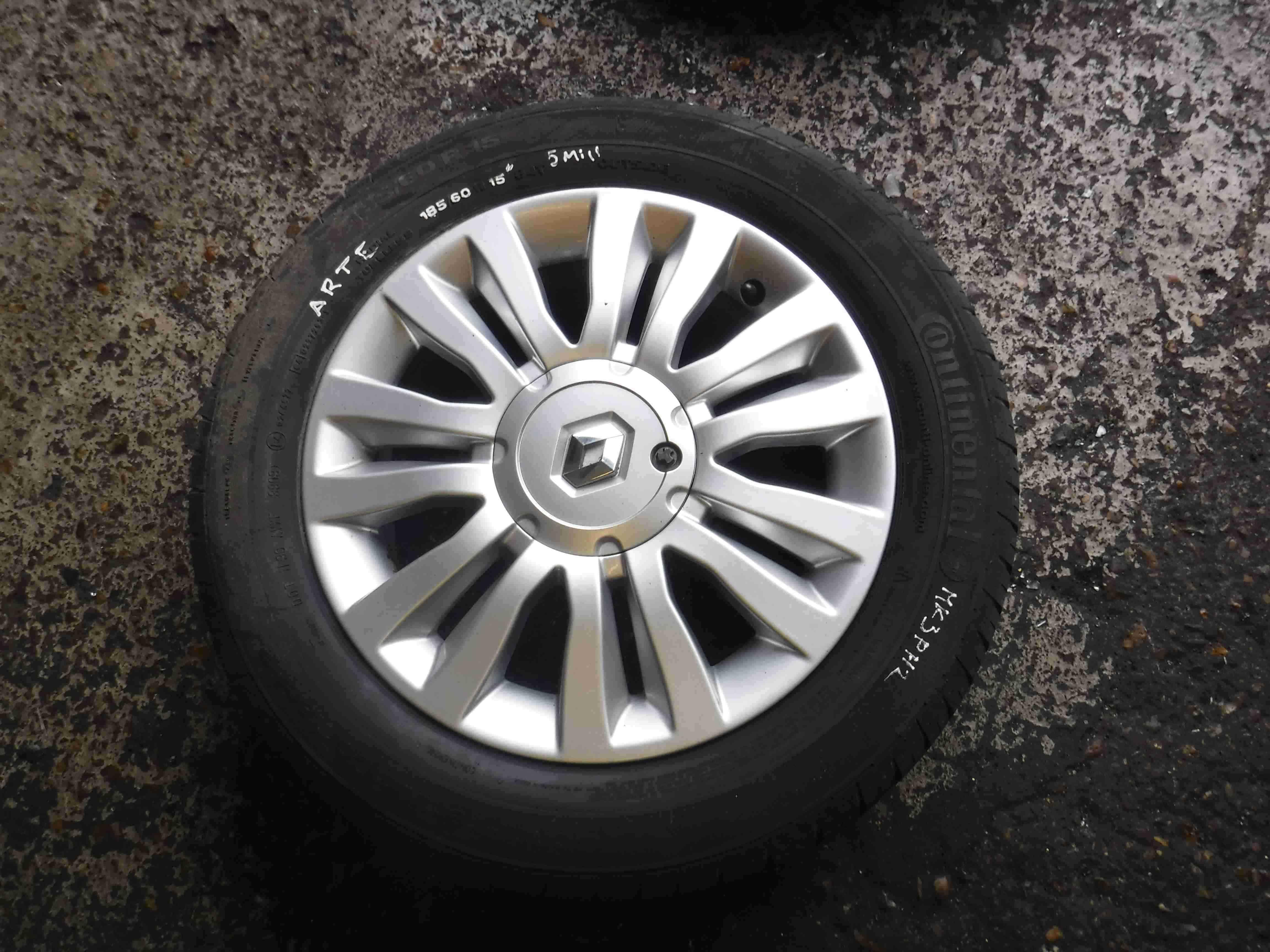 Renault Clio MK3 2005-2012 Del Arte Alloy Wheel  Tyre 185 60 15 5mm inch 45
