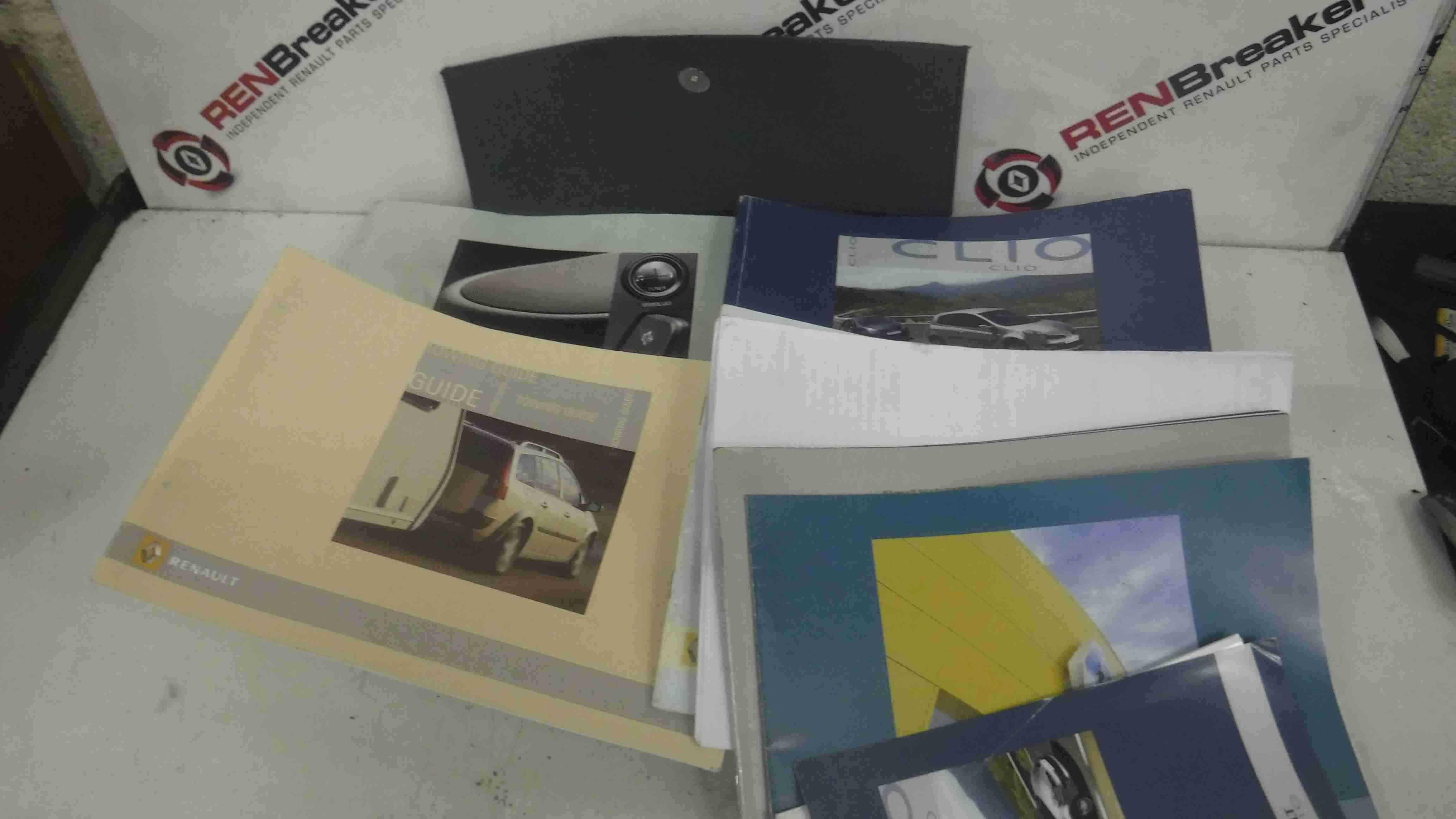 Renault Clio MK3 2005-2012 Owners Manual Document Holder Wallet Folder Booklet