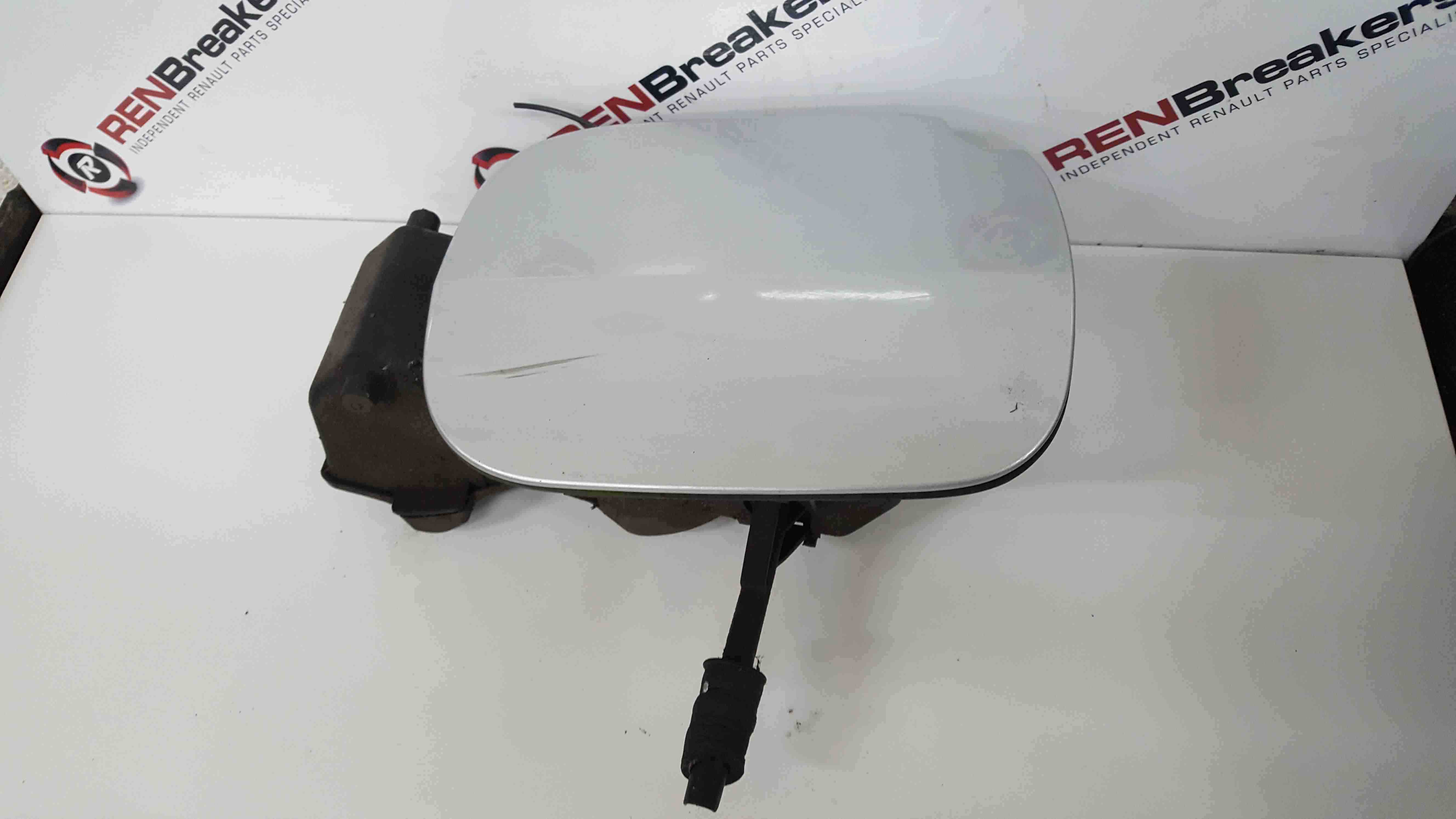 Renault Clio MK3 2005-2012 Fuel Flap Cover Silver TED69 + Hinges 8200383466
