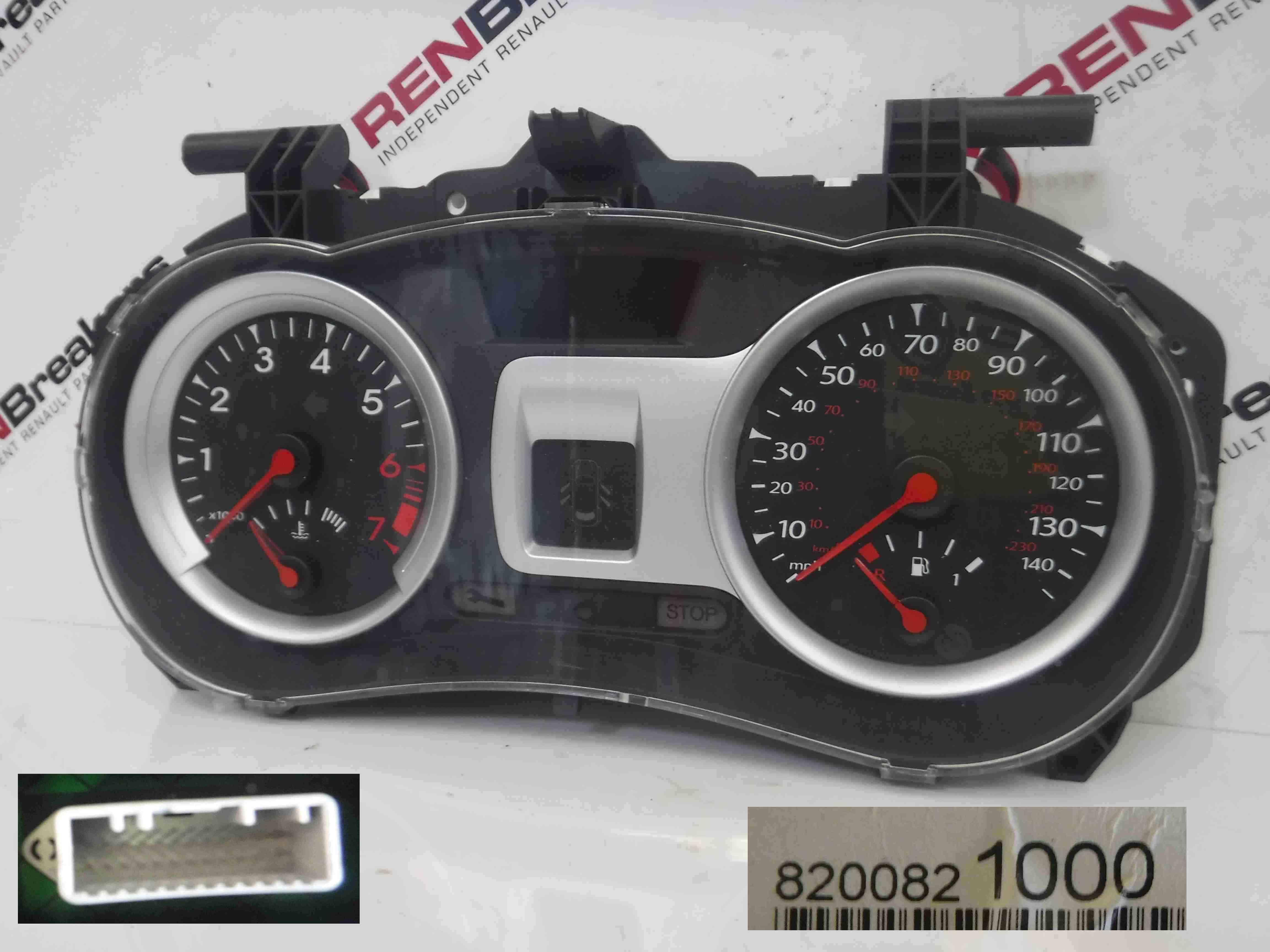 Renault Clio MK3 2005-2012 Instrument Clocks Dials Gauges 101K 8200821000