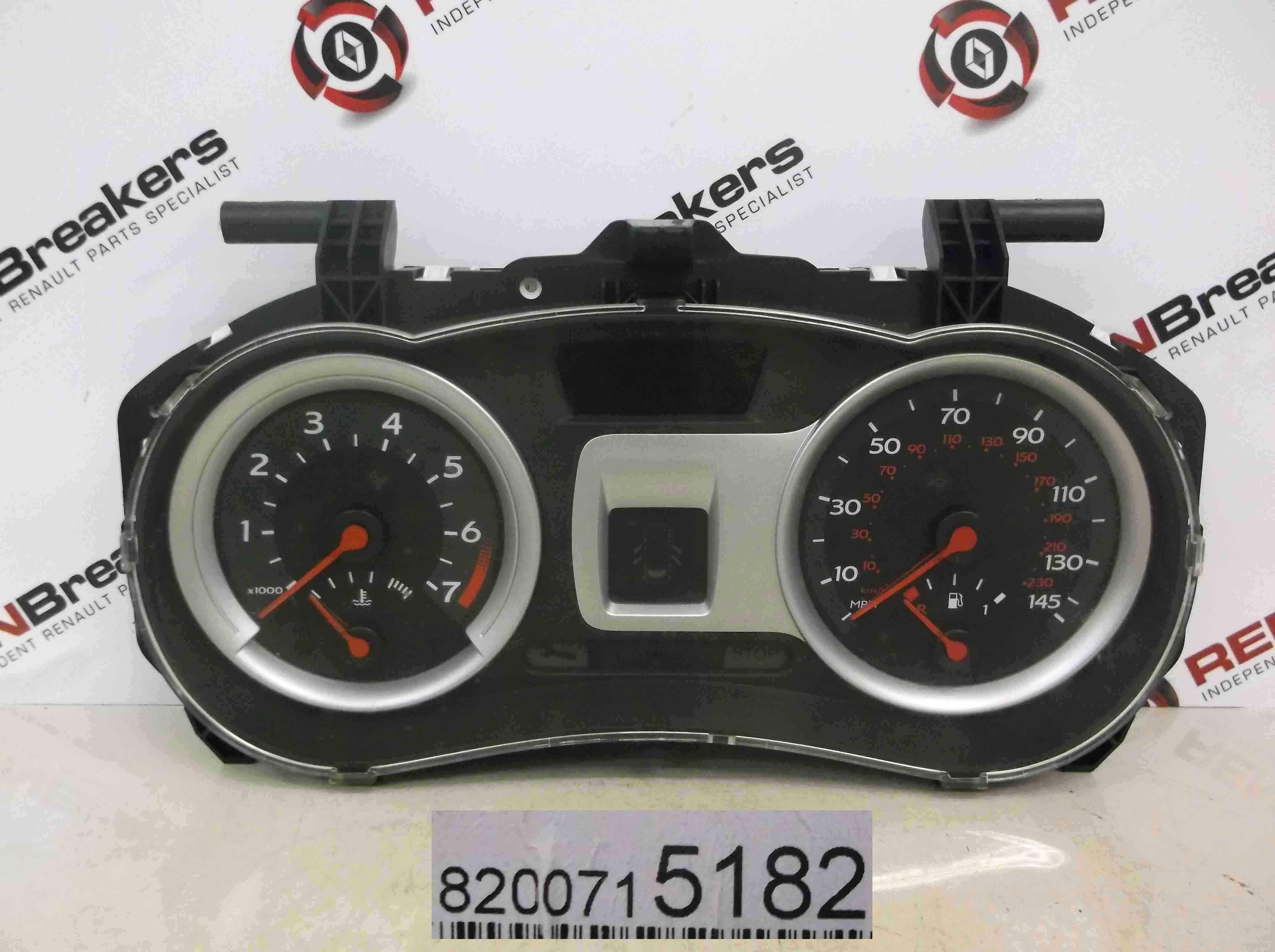 Renault Clio MK3 2005-2012 Instrument Dials Clocks Gauges 135k 8200715182