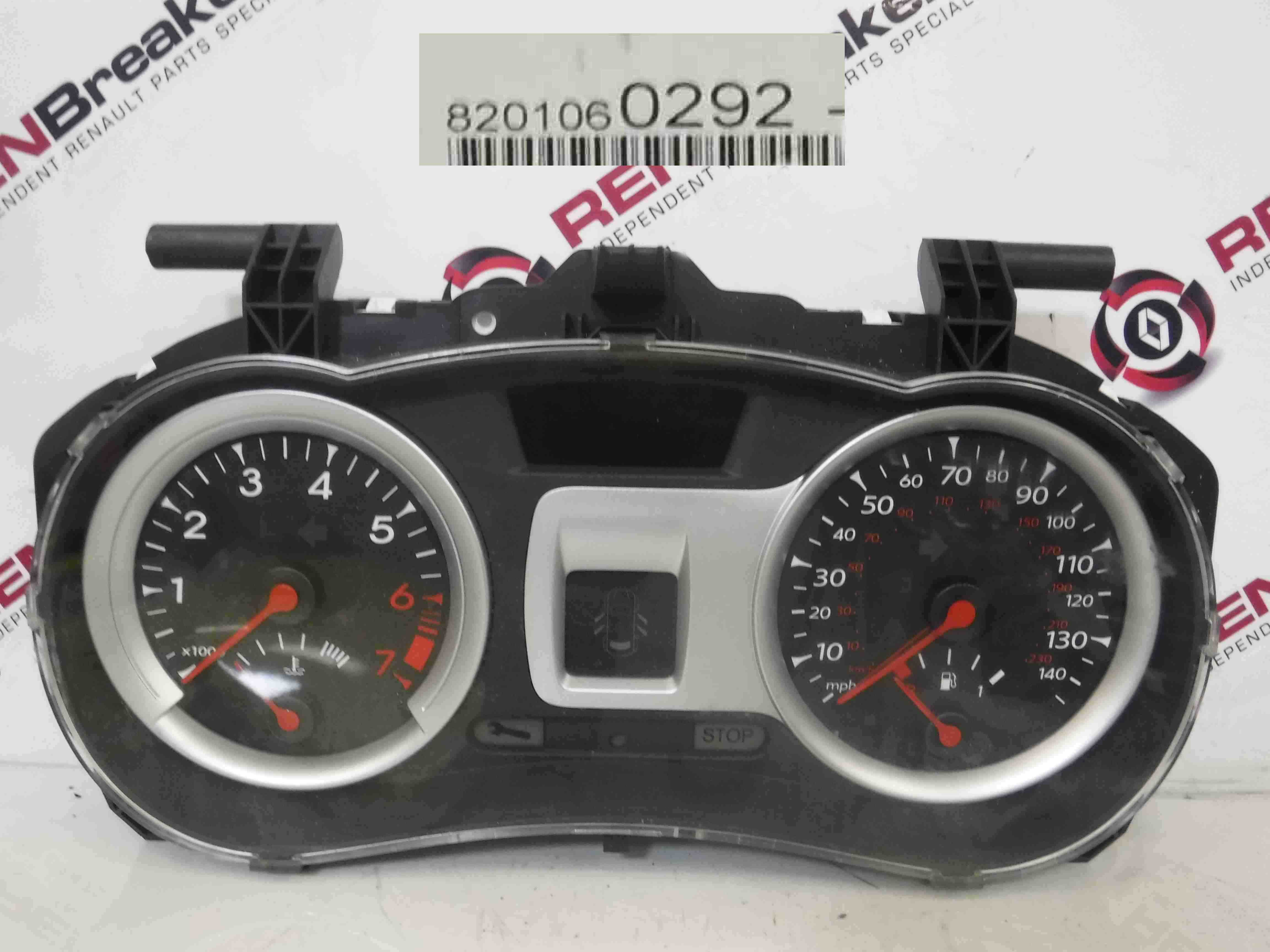 Renault Clio MK3 2005-2012 Instrument Panel Dials Gauges Clocks 100K 8201060292