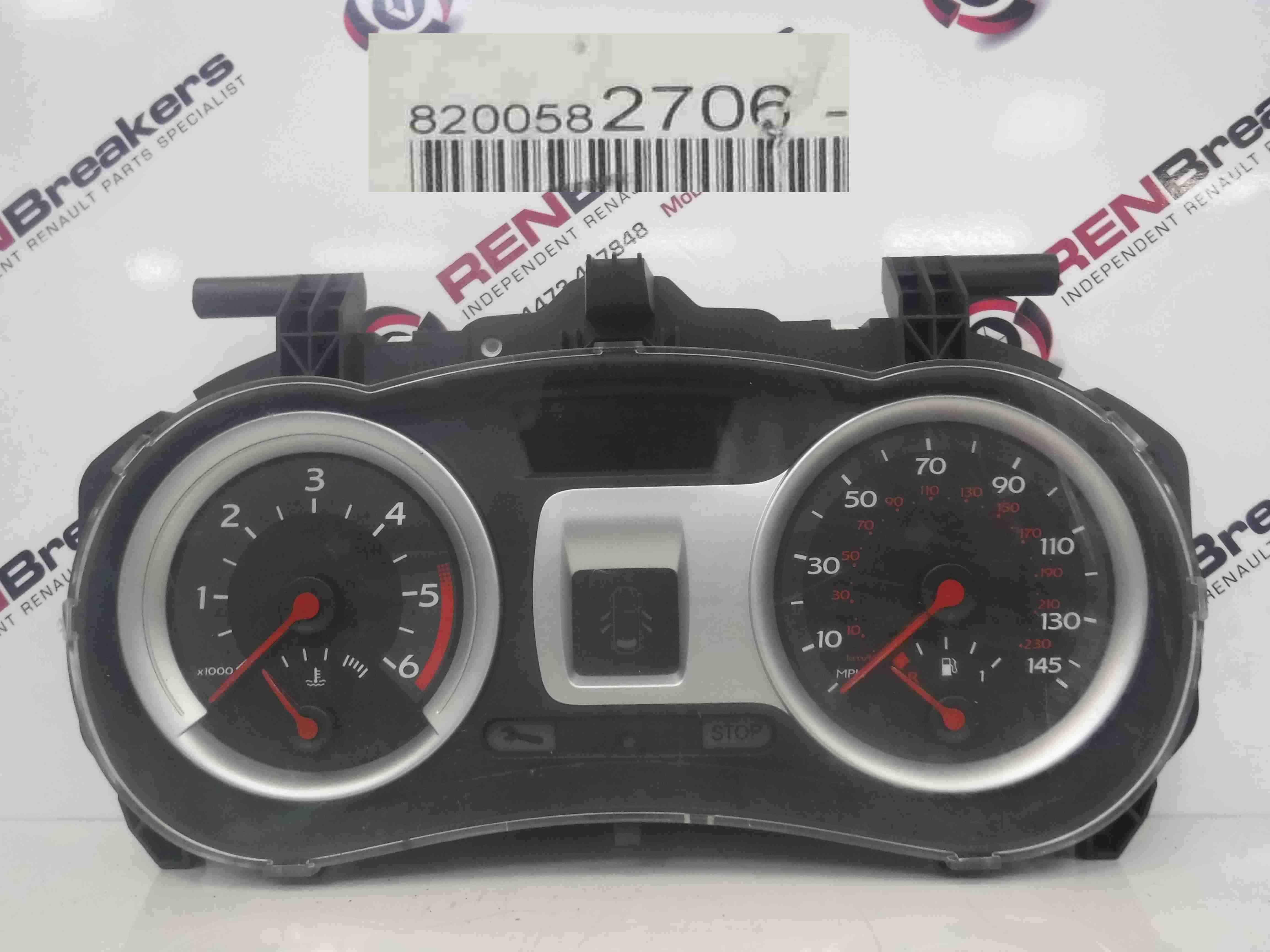 Renault Clio MK3 2005-2012 Instrument Panel Dials Gauges Clocks 111K 8200582706