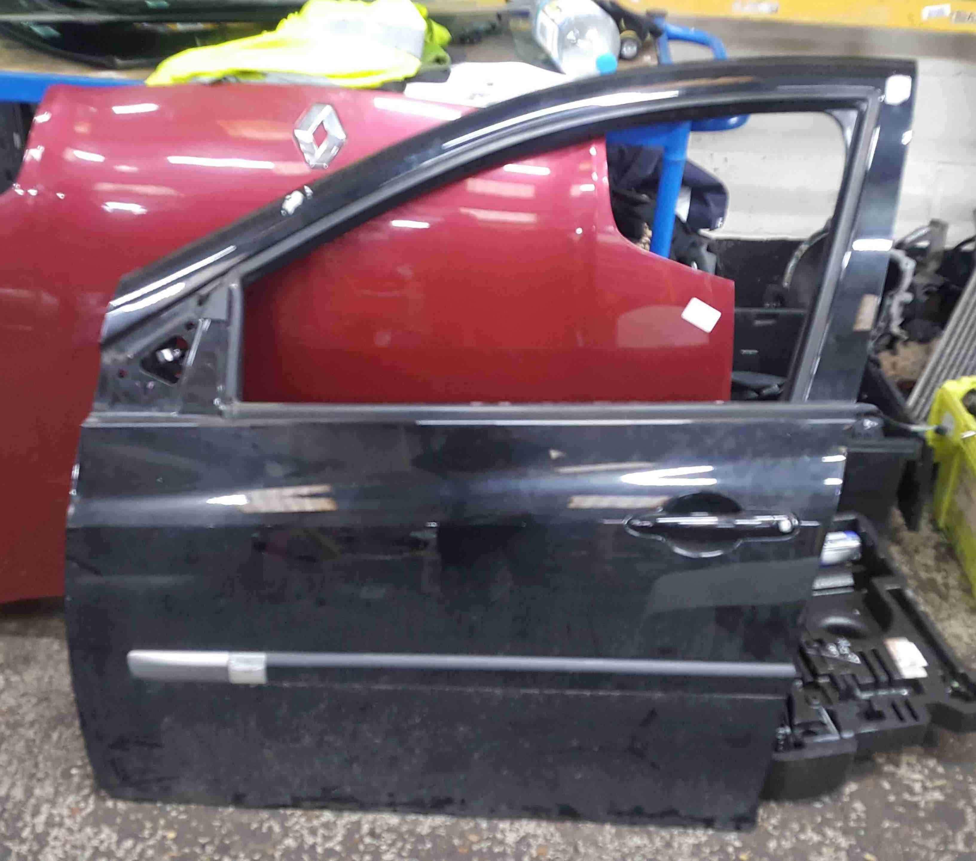 Renault Clio MK3 2005-2012 Passenger NSF Front Door Black TEGNE 5dr