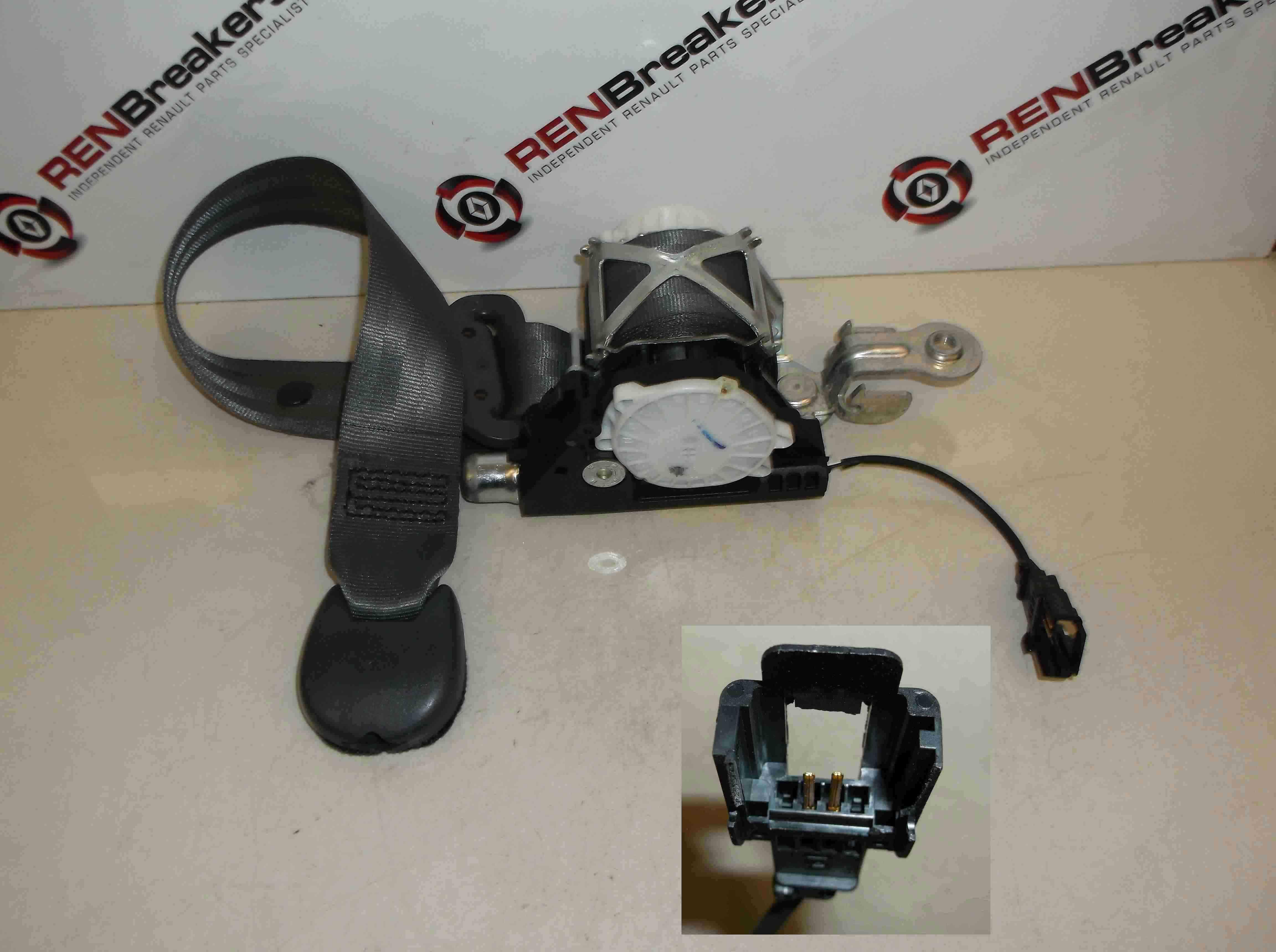 Renault Clio MK3 2005-2012 Passenger NSF Front Seat Belt 5dr Black plug
