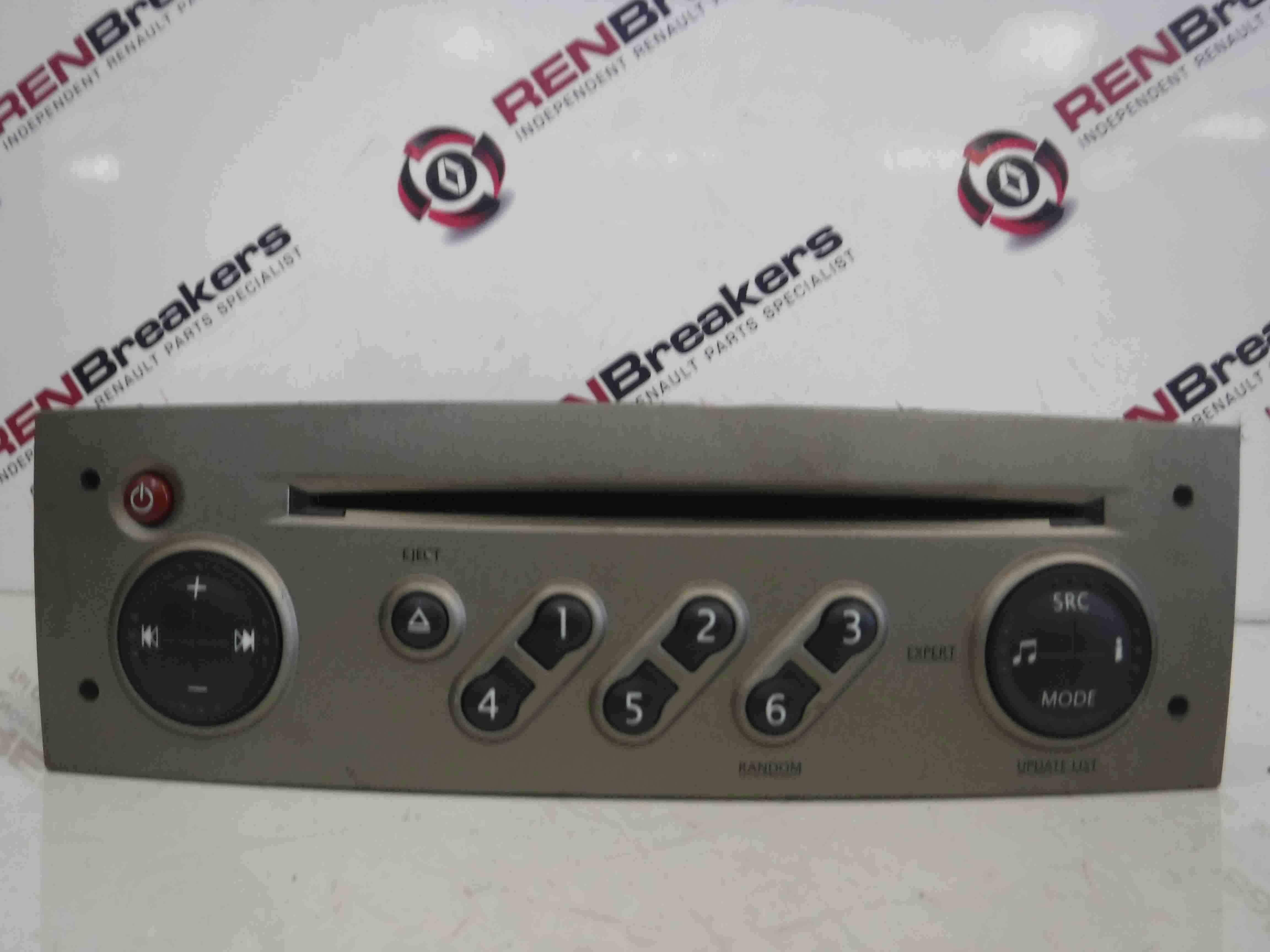Renault Clio MK3 2005-2012 Radio Cd Player Update List  Code Beige 8200633623
