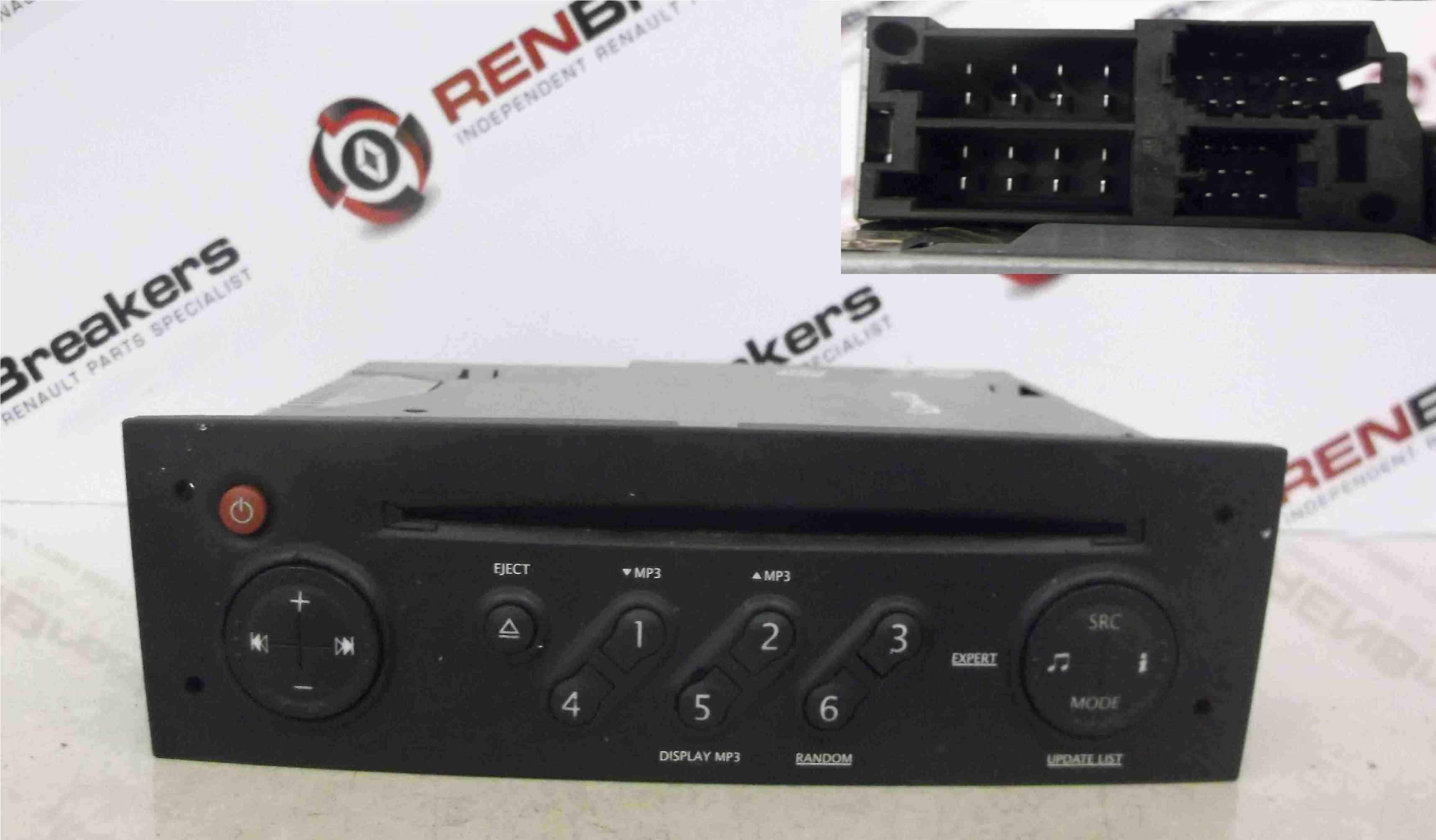 Renault Clio MK3 2005-2012 Radio Cd Player Update List MP3 + Code 8200633624