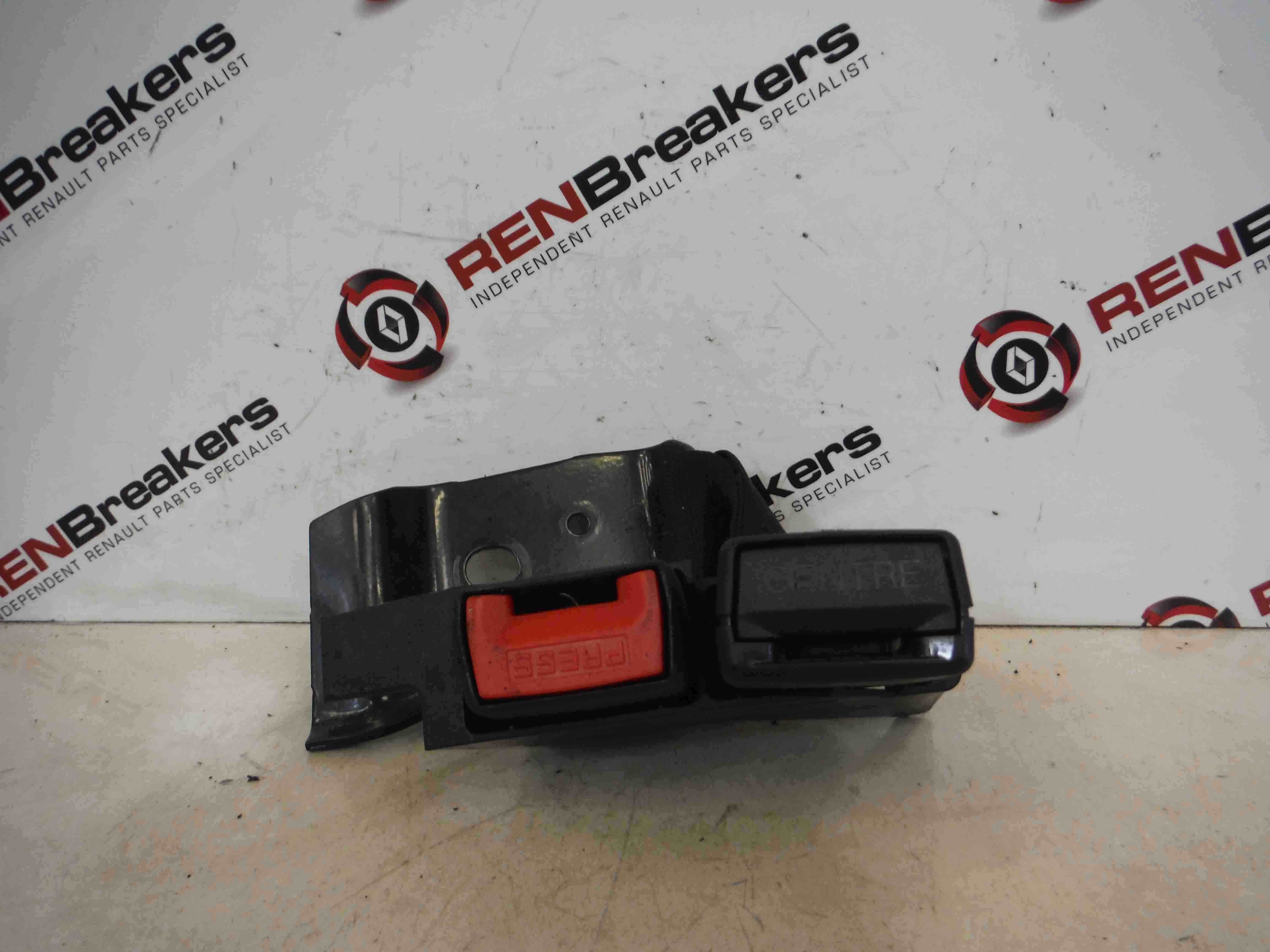 Renault Clio MK3 2005-2012 Rear Seat Belt Buckle Clasp Anchor Red Black