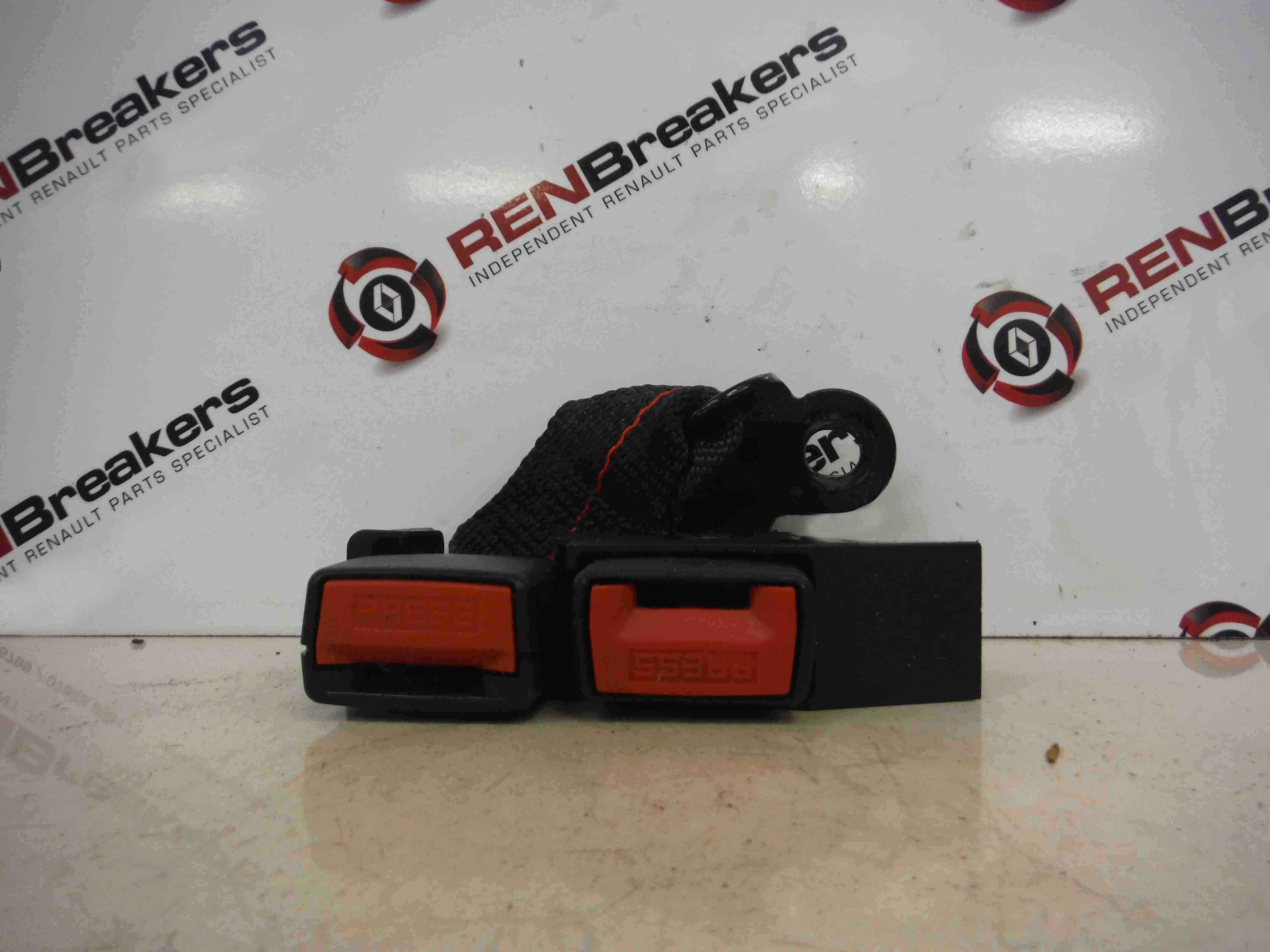 Renault Clio MK3 2005-2012 OSR Drivers Rear Seat Belt Buckle Clasp Anchor RED