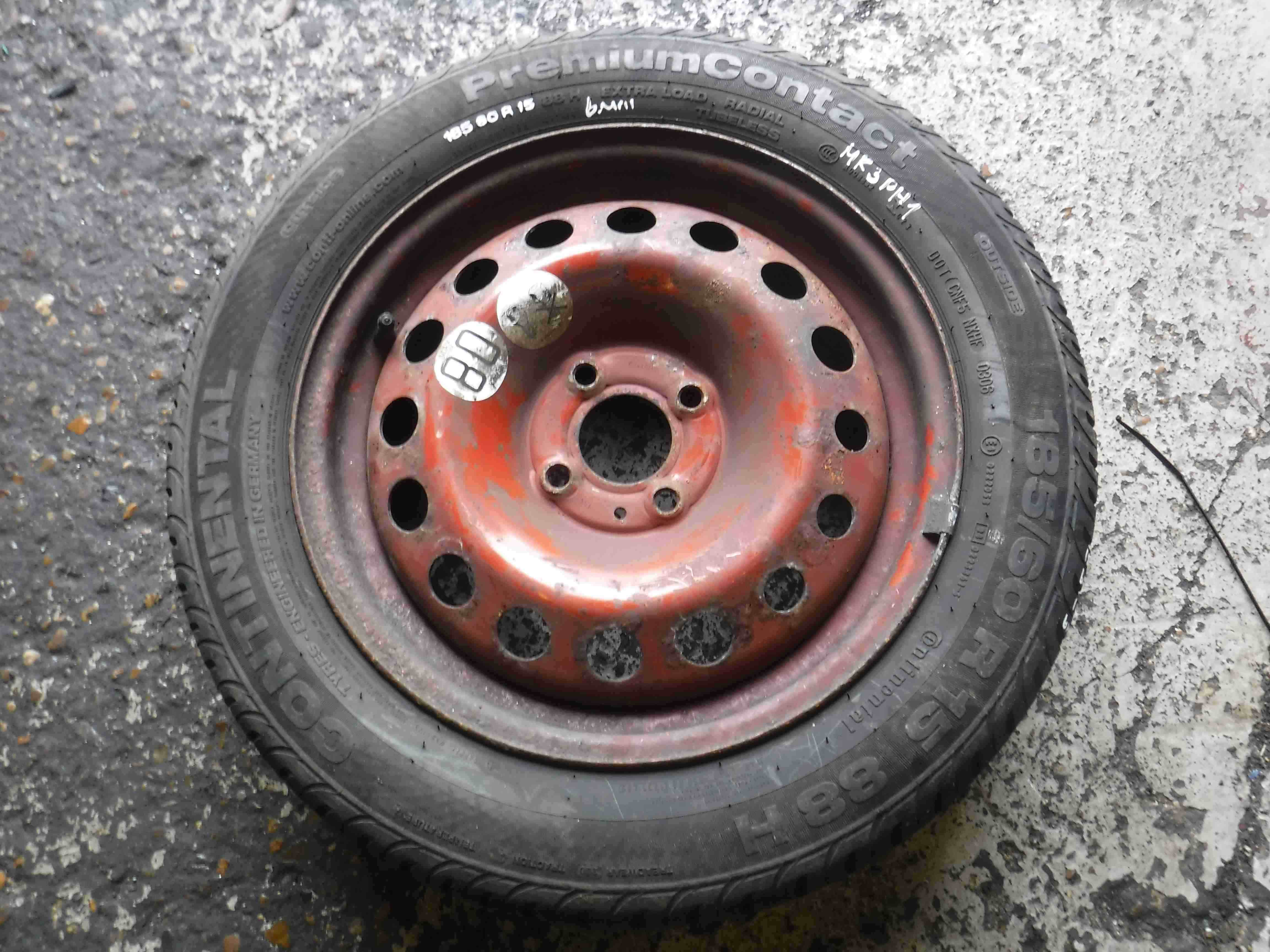 Renault Clio MK3 2005-2012 Space Saver Spare Wheel Steel  Tyre 185 60 15 6mm