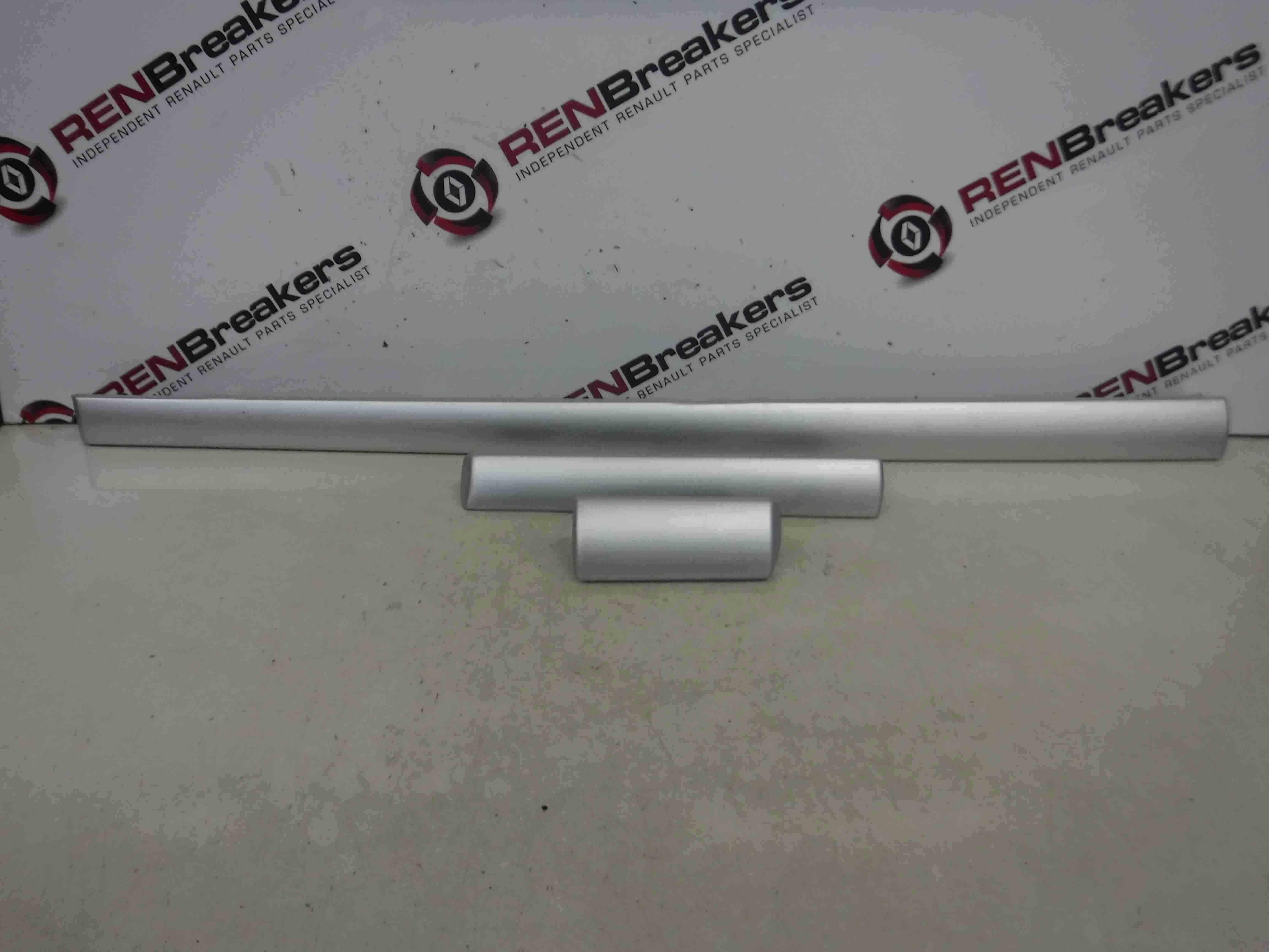 Renault Clio MK3 2009-2012 Dashboard Bump Trim Moulding Silver