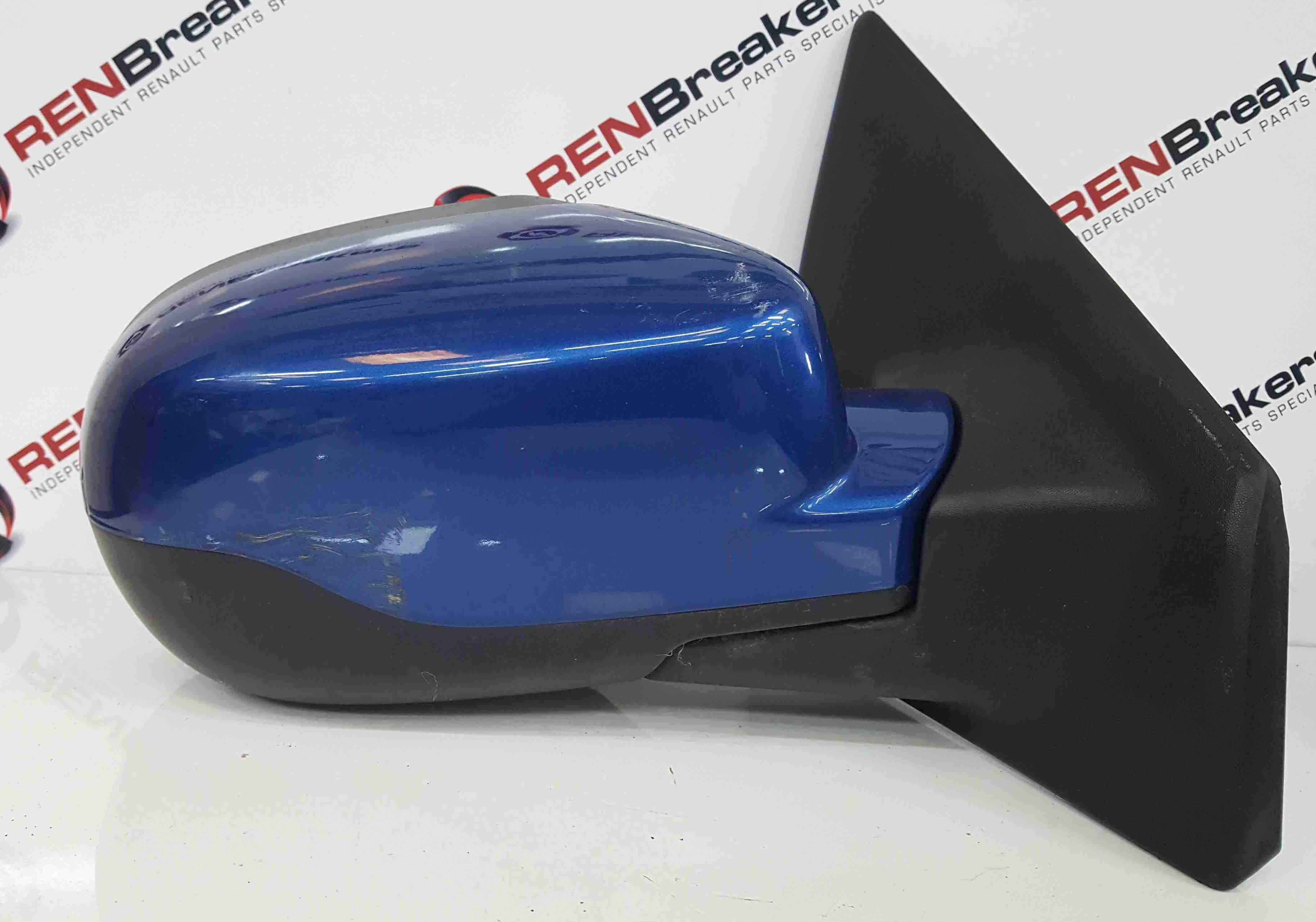 Renault Clio MK3 2009-2012 Drivers OS Wing Mirror Blue TERNA Facelift 00