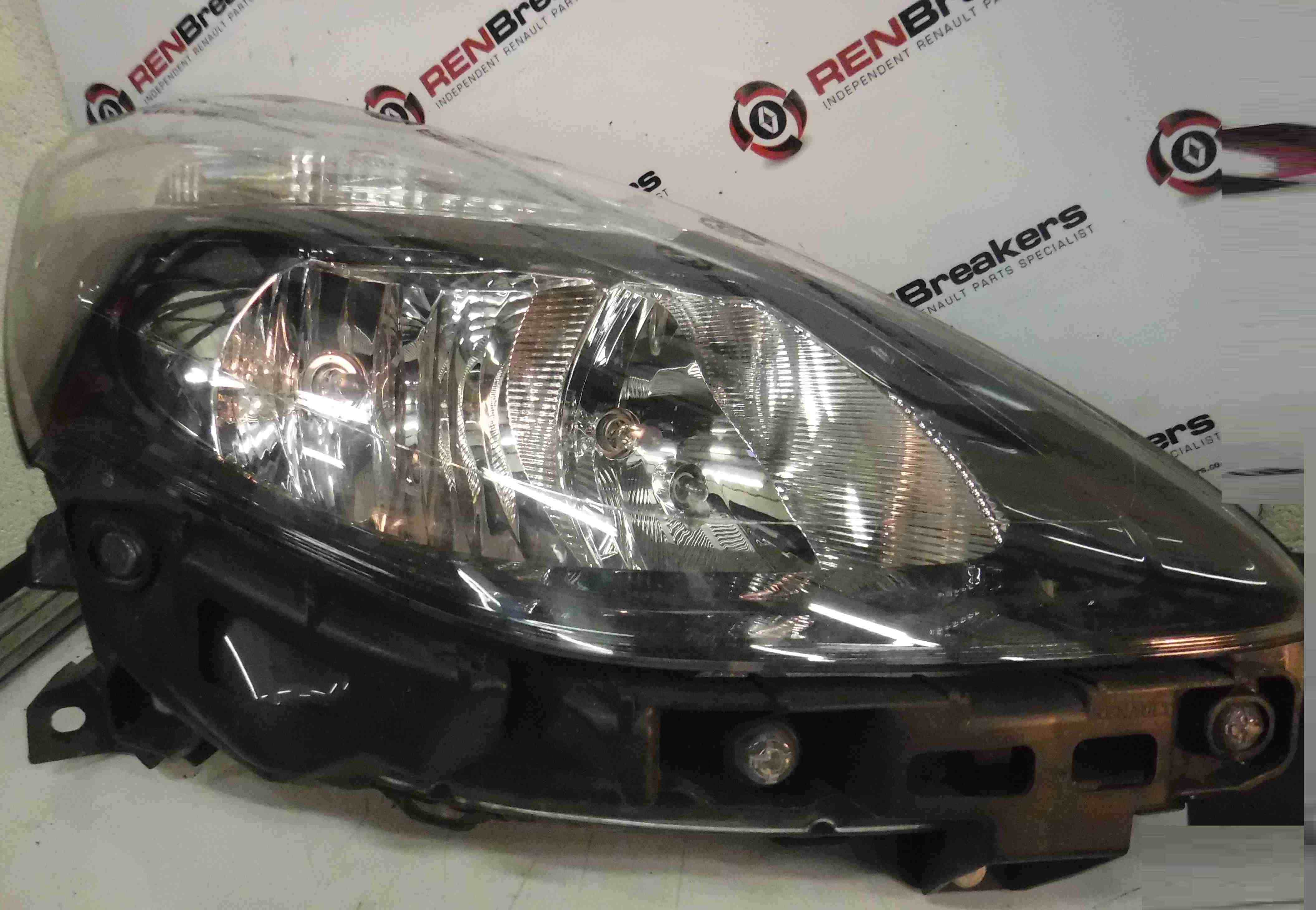 Renault Clio MK3 2009-2012 Drivers OSF Front Headlight Black Backing