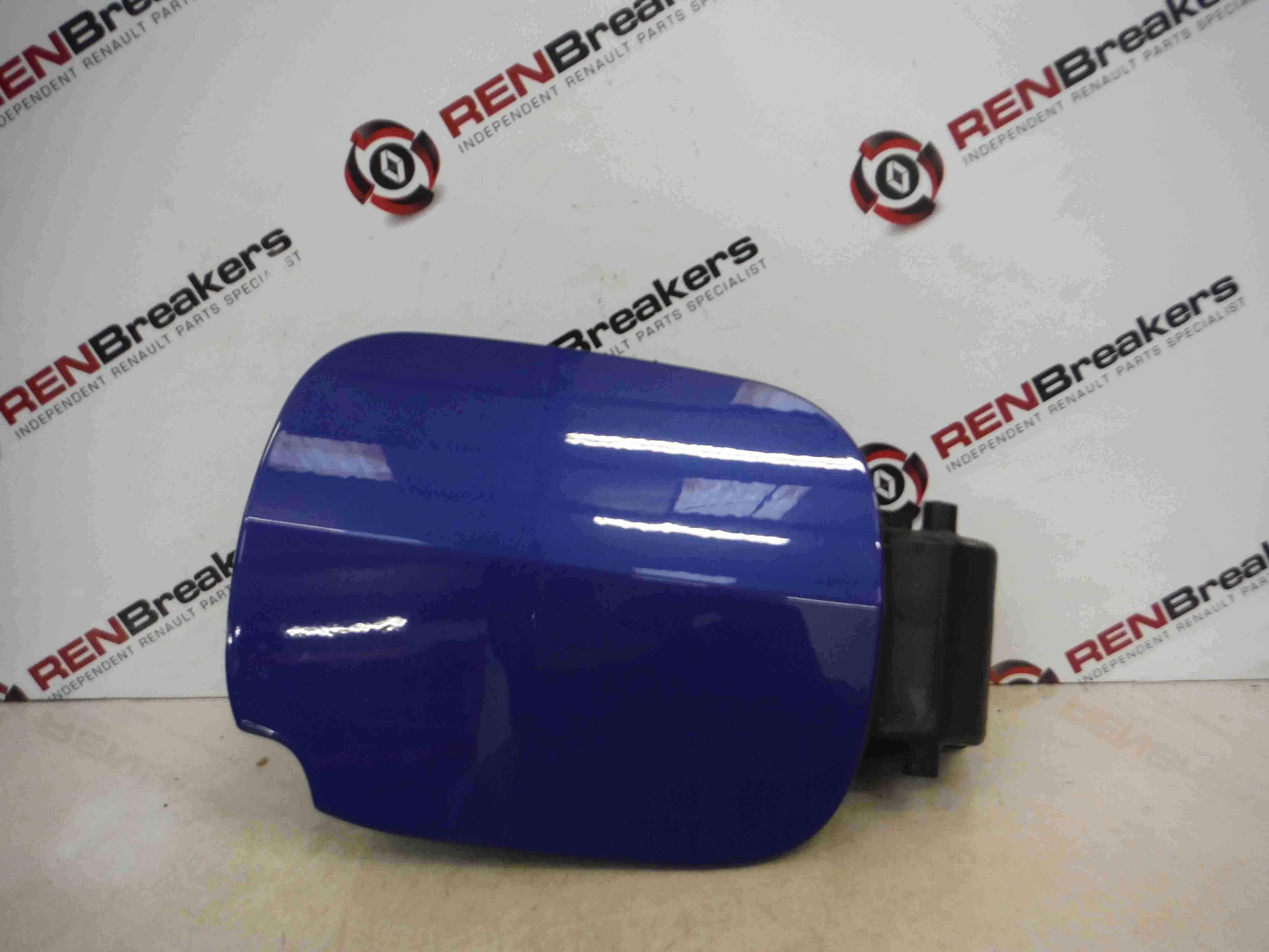 Renault Clio MK3 2009-2012 Petrol Diesel Fuel Flap Cover Blue TERNA + Hinges
