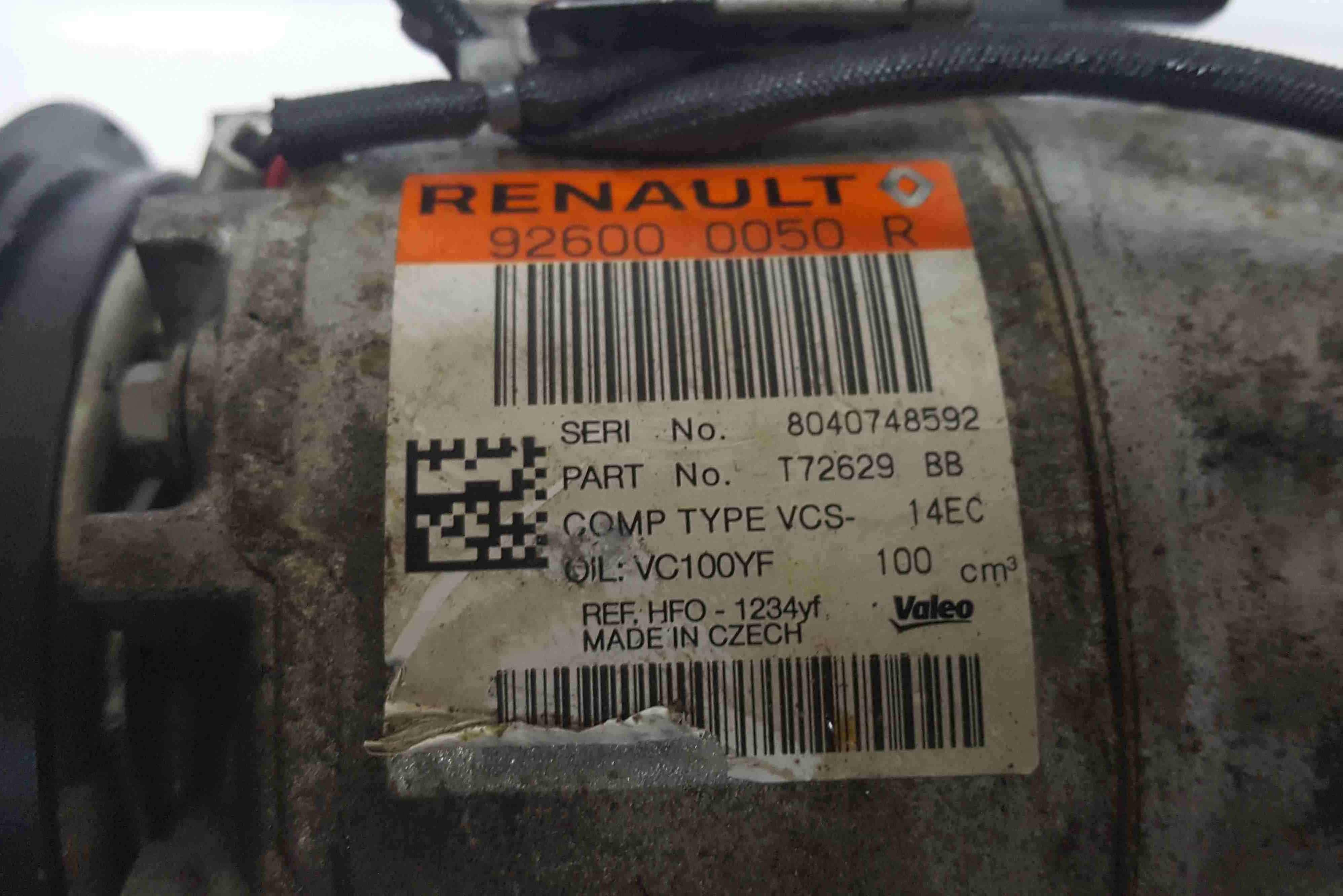Renault Clio MK4 2012-2018 Aircon Pump Compressor Unit 926000050R