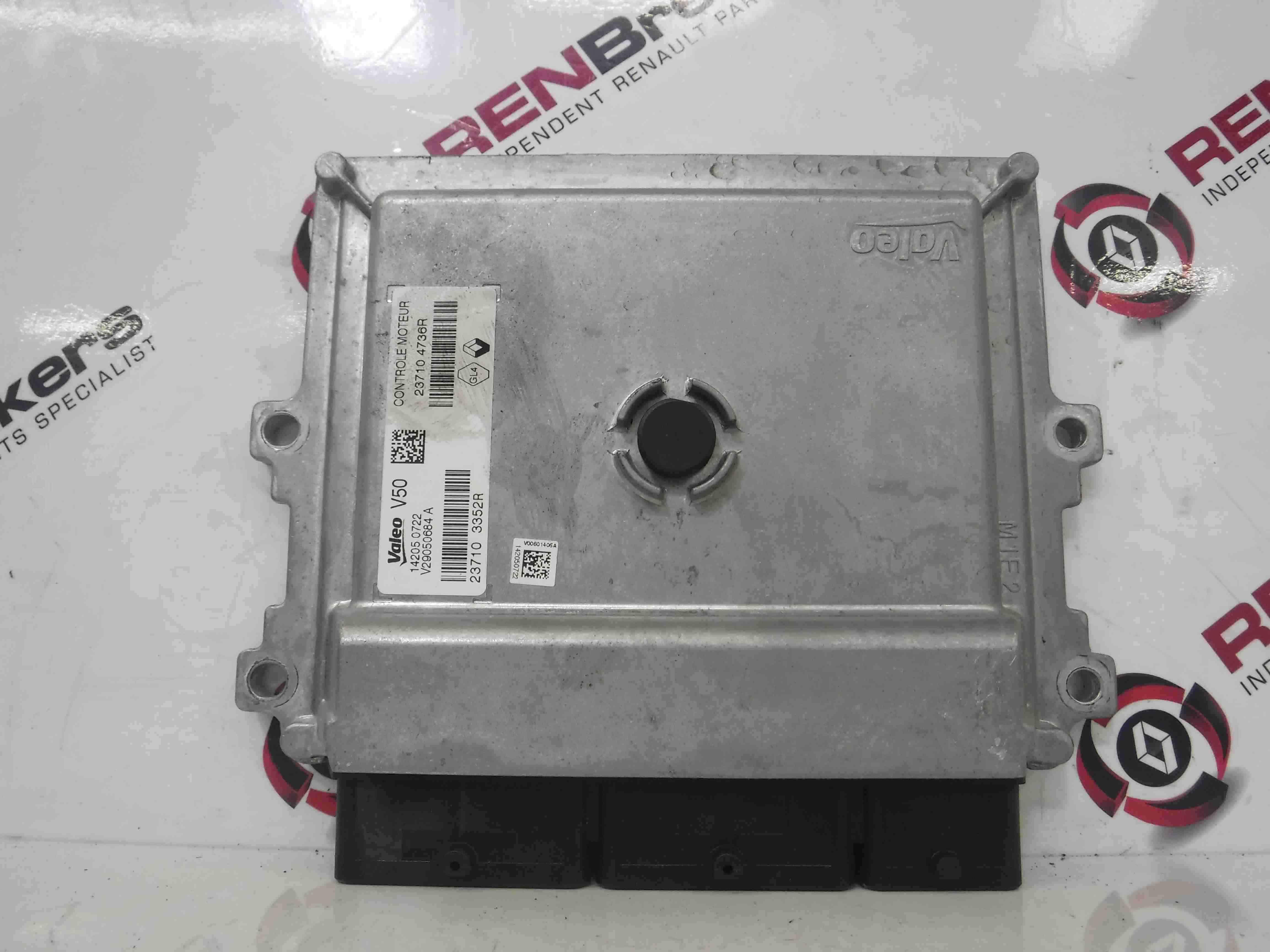 Renault Clio MK4 2013-2015 1.2 16v Engine Control Unit ECU 237103352R 237104736R