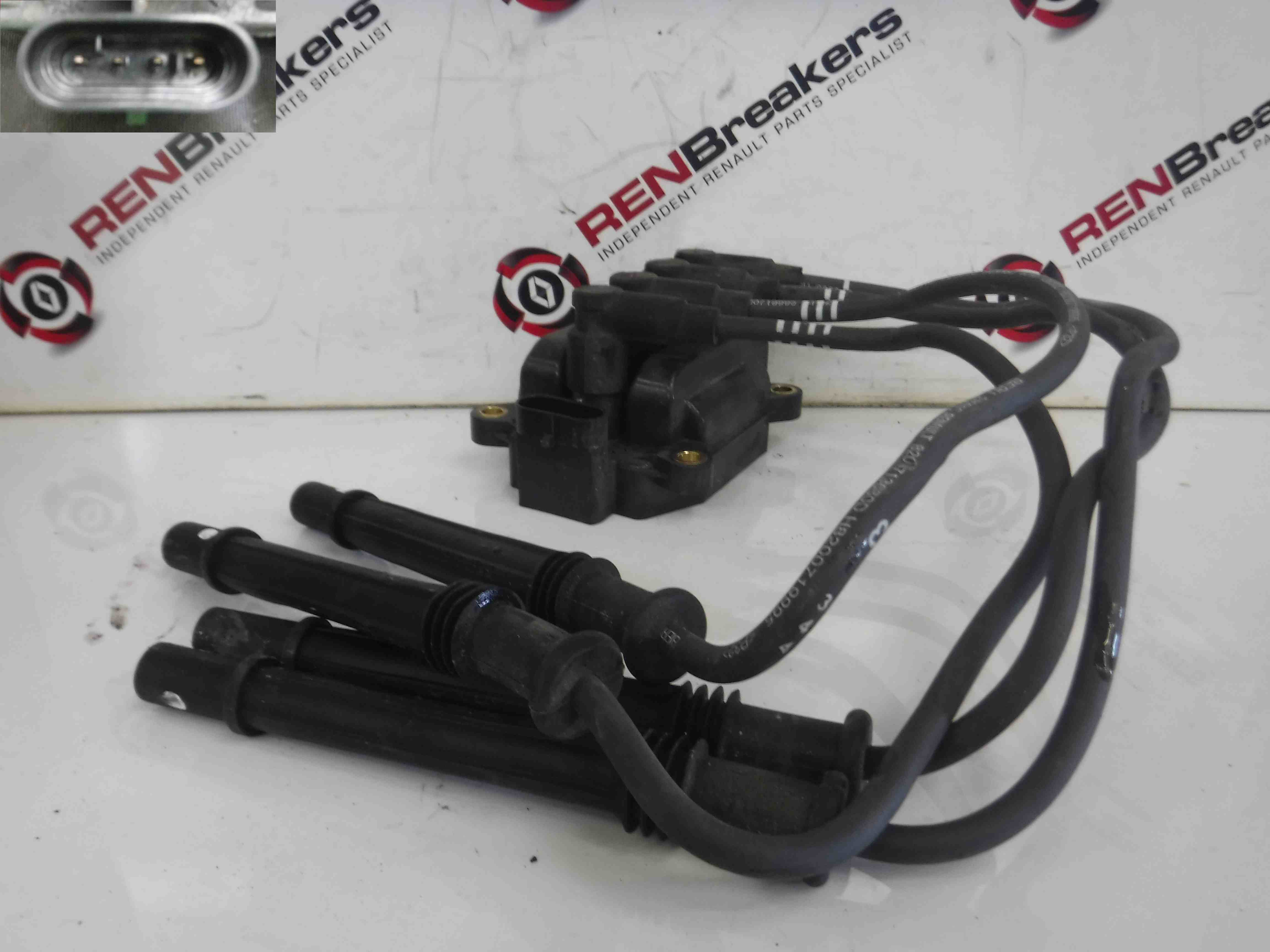Renault Clio MK4 2013-2017 1.2 16v Ignition Coil Pack + Leads 8200702693