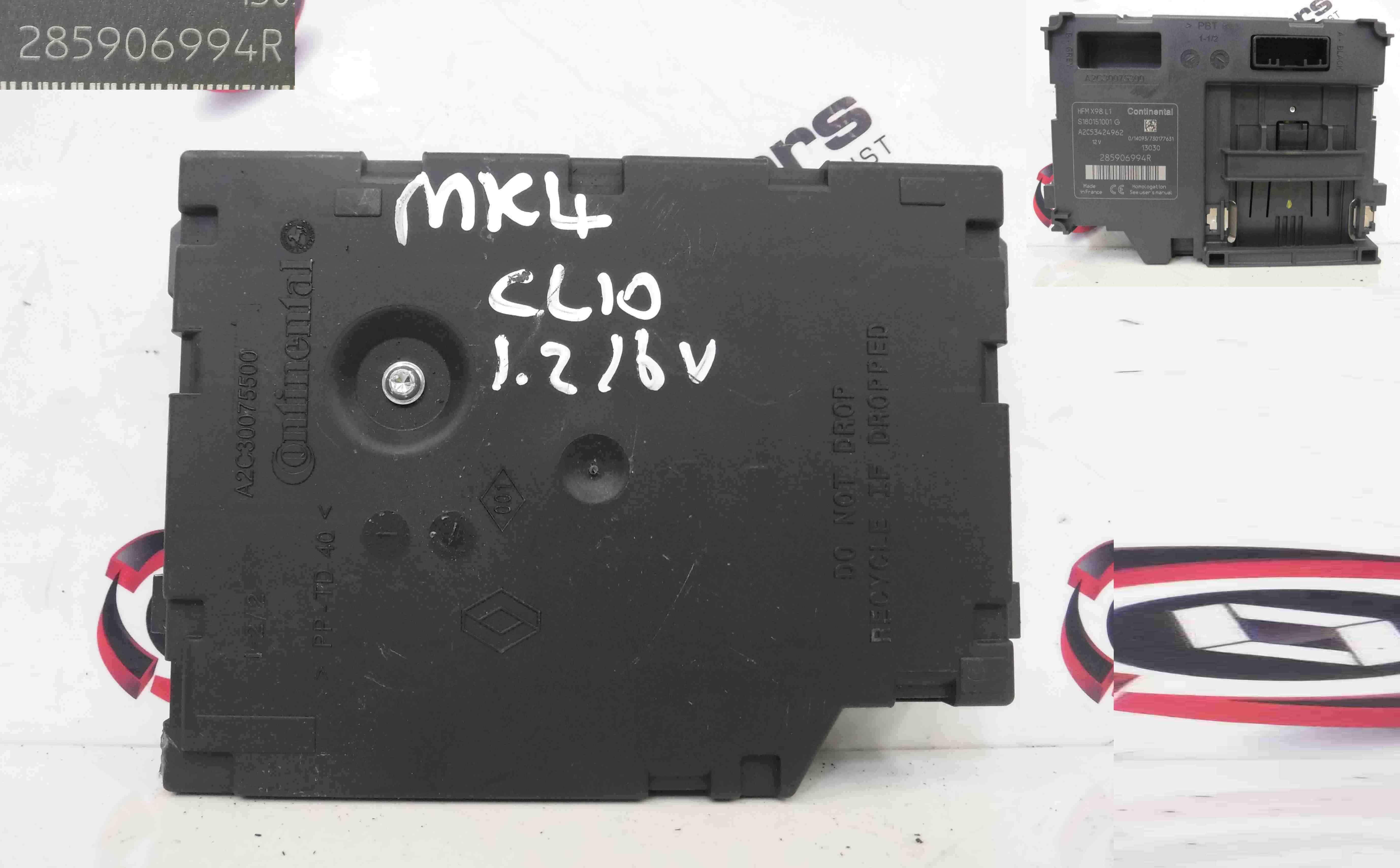 Renault Clio MK4 2013-2015 Ignition Key Card Reader 285906994R