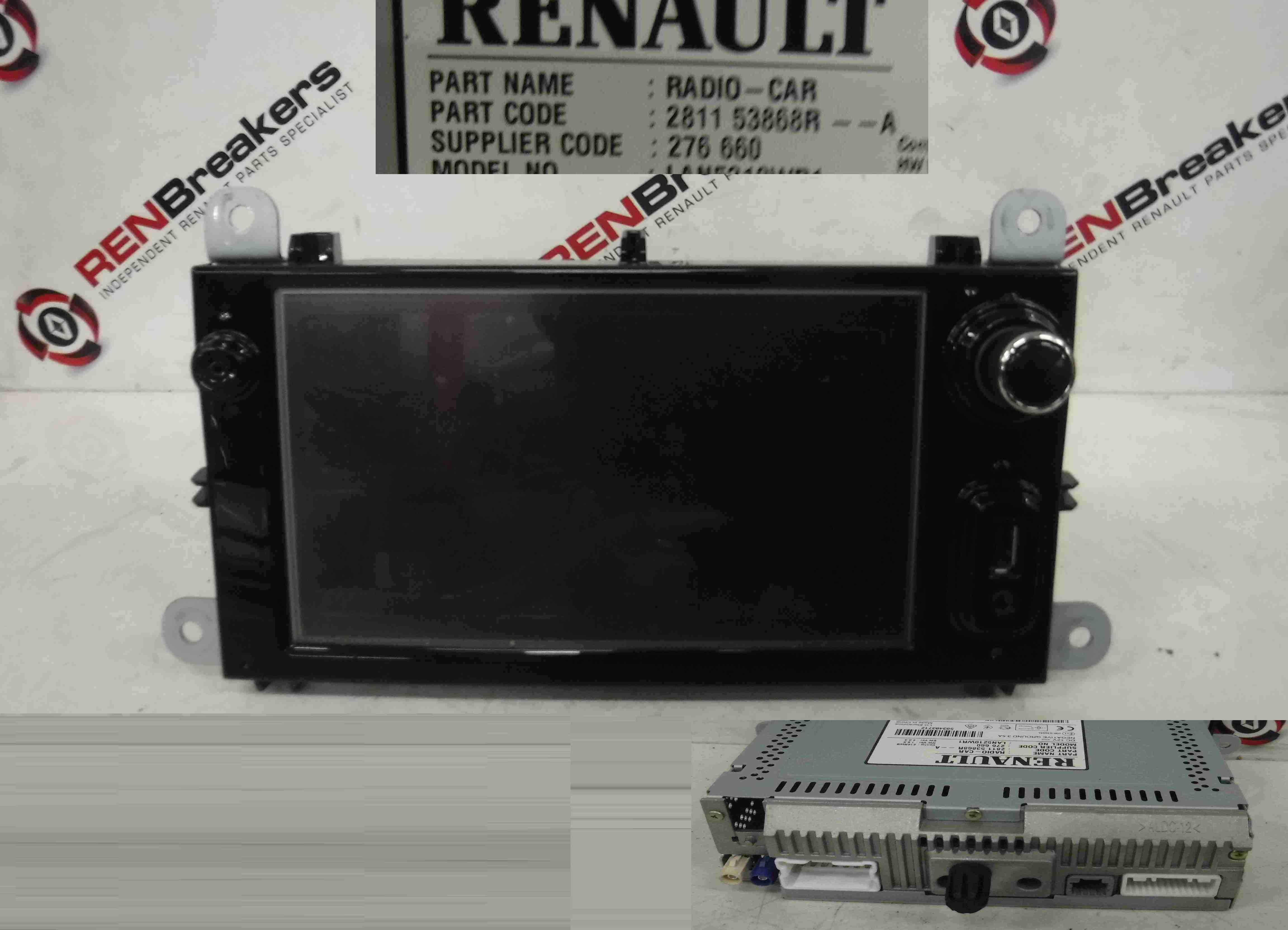 Renault Clio MK4 2013-2015 Media Display Screen Radio Sat Nav 281153868R