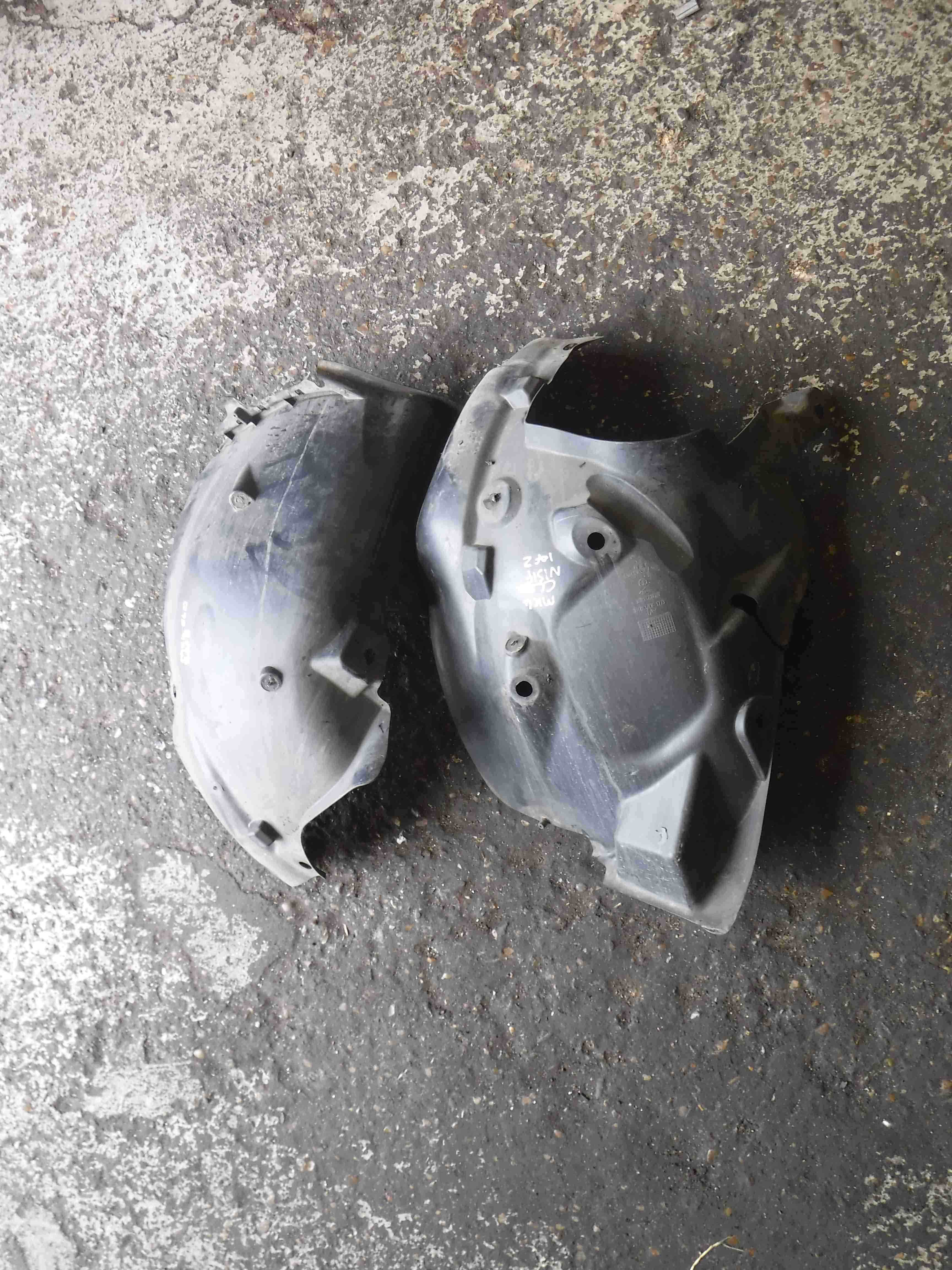 Renault Clio MK4 2013-2015 Passenger NSF Front Dirt Guard Arch Liners Both Parts