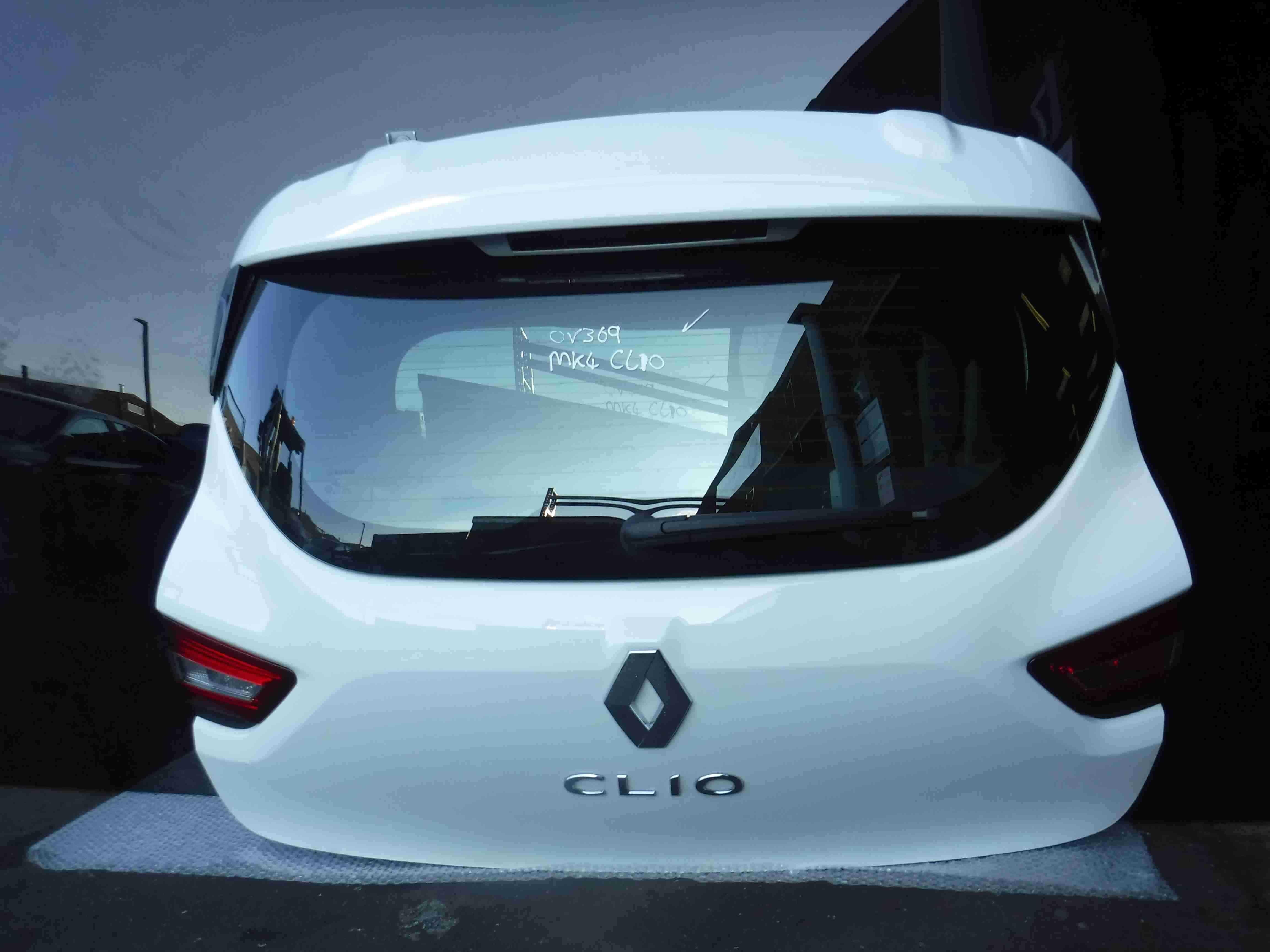 Renault Clio MK4 2013-2015 Rear Tailgate Boot White OV369