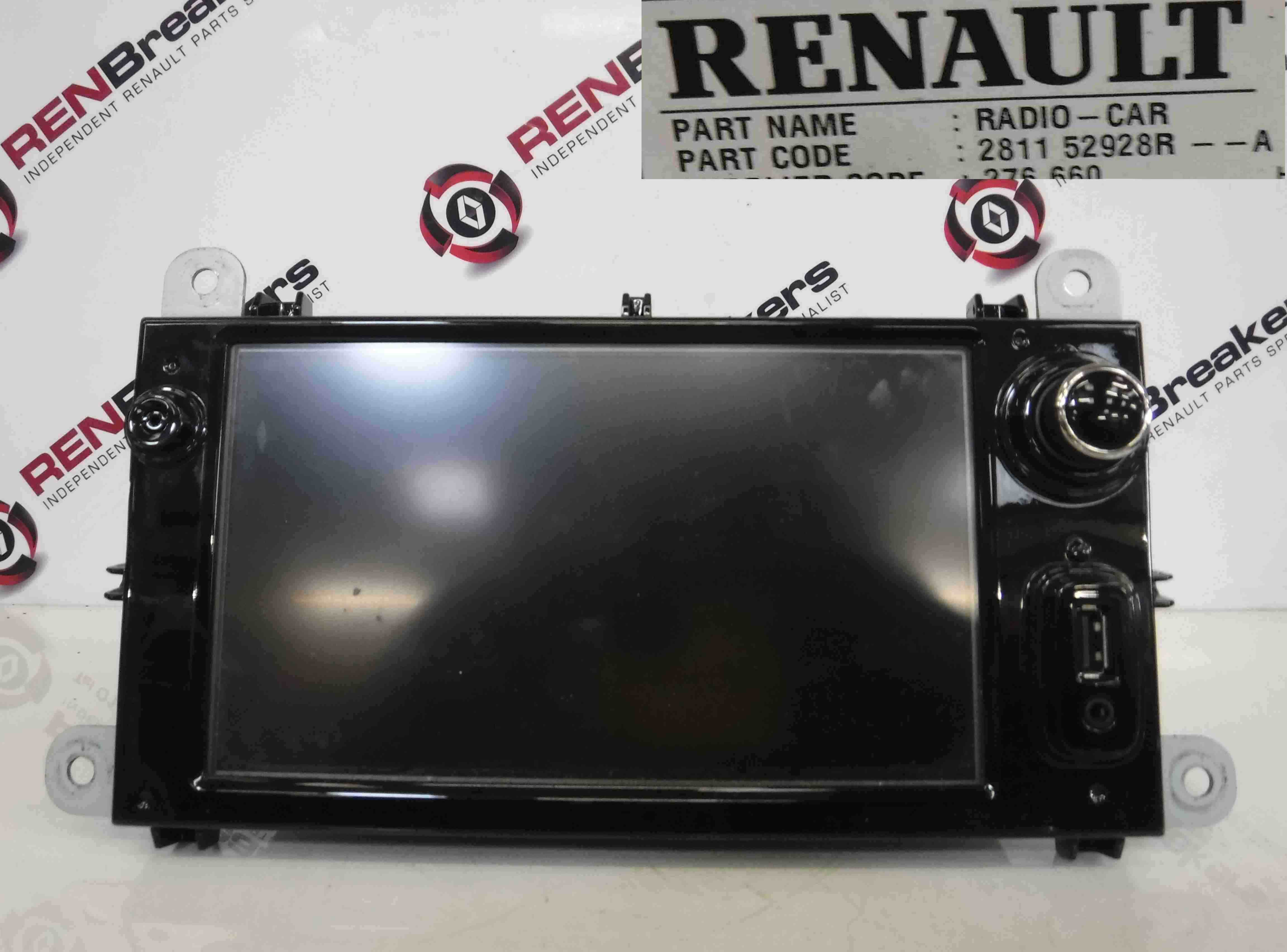 Renault Clio MK4 2013-2018 Sat Nav Radio Stereo AUX USB Screen Navigation