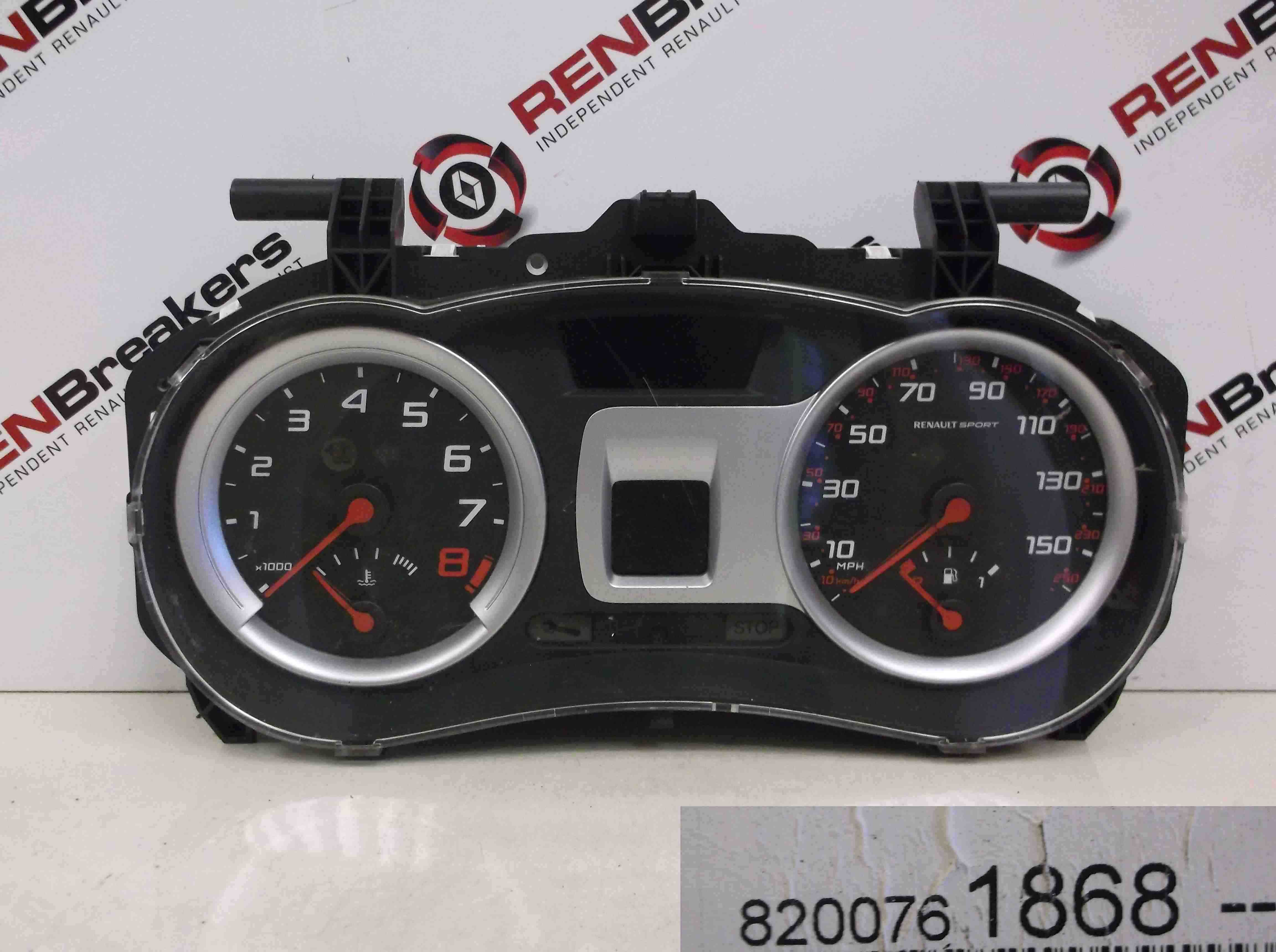 Renault Clio Sport 2005-2009 197 2.0 16v 85K Instrument Panel Dials Gauge Speed