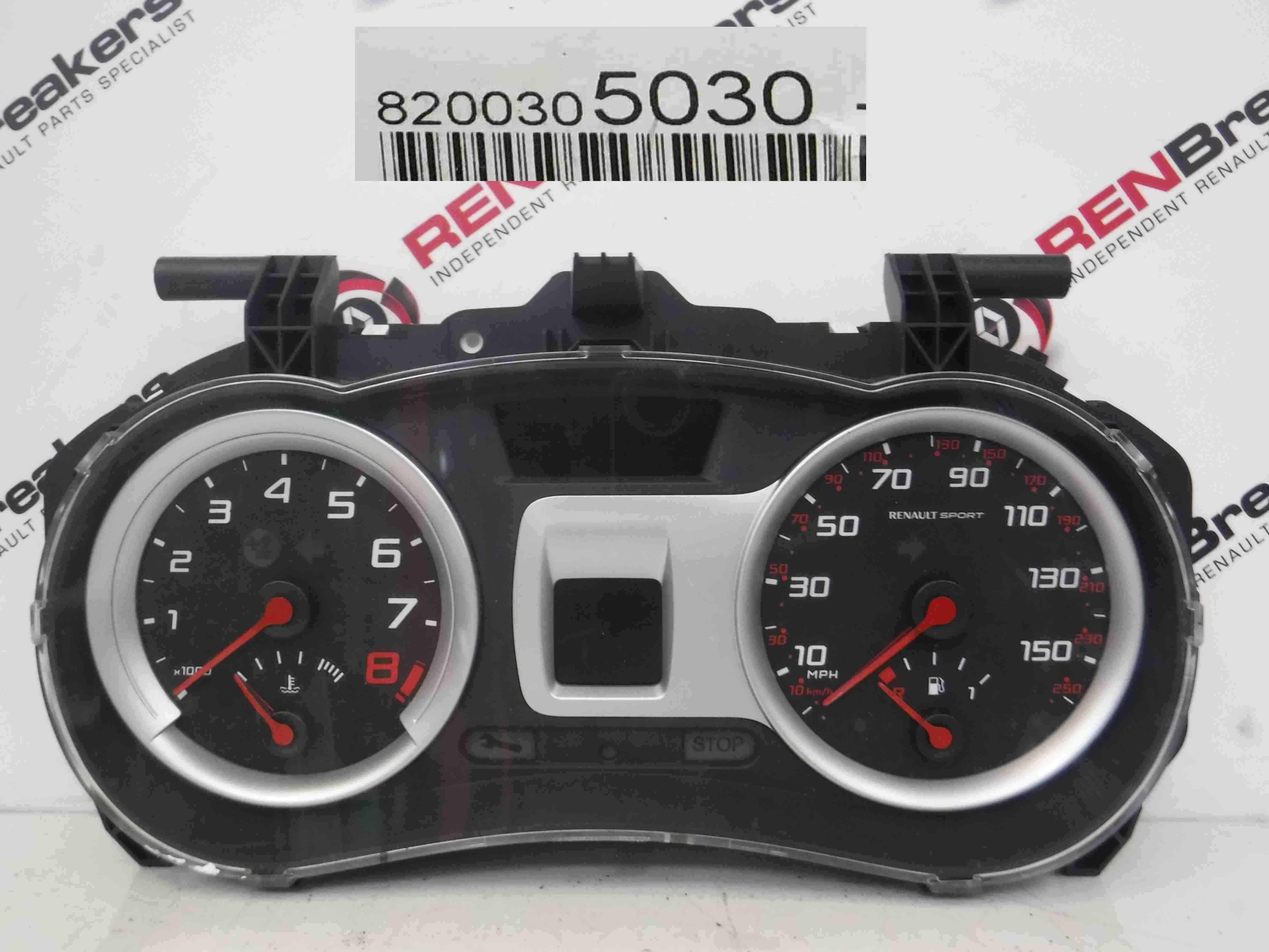 Renault Clio Sport 2005-2009 197 Instrument Panel Dials Clocks Gauges 96K