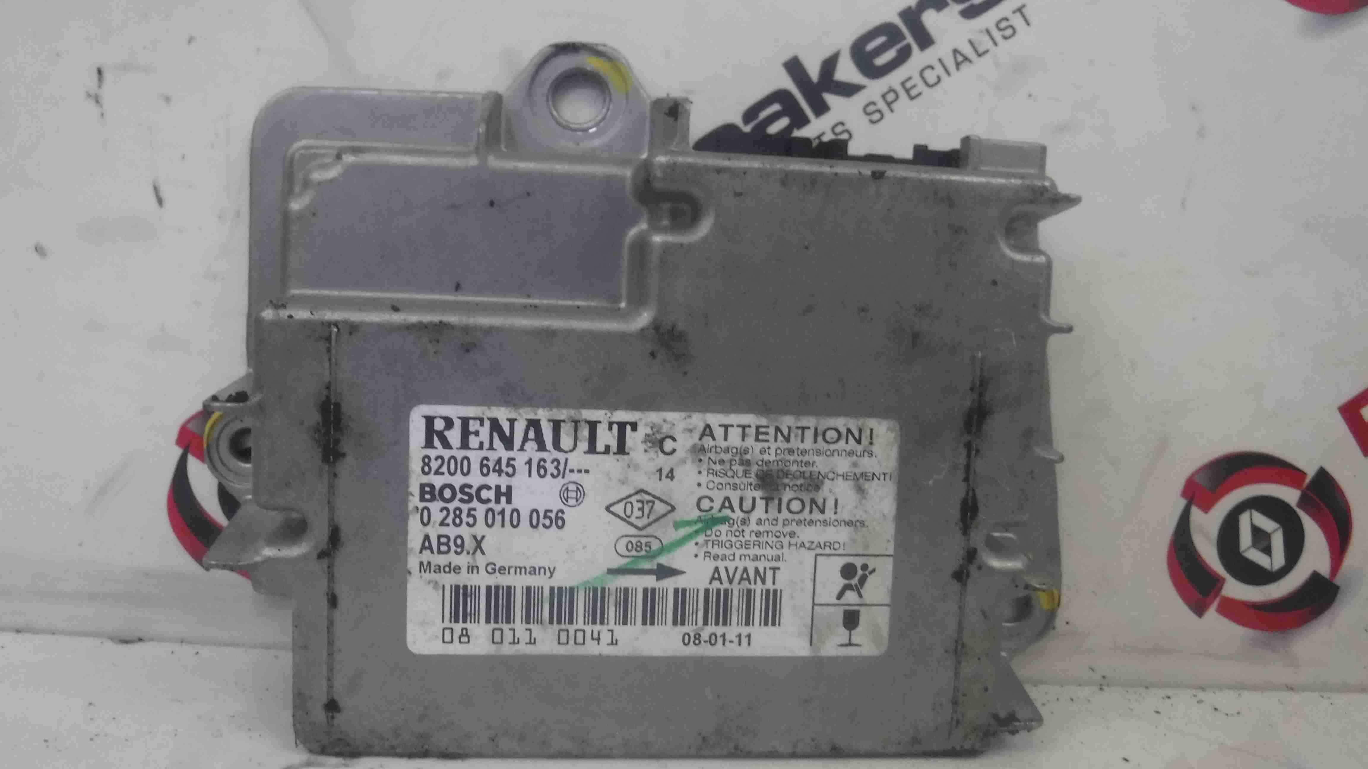 Renault Clio Sport 2005-2012 197 Airbag ECU Module Computer 8200645163