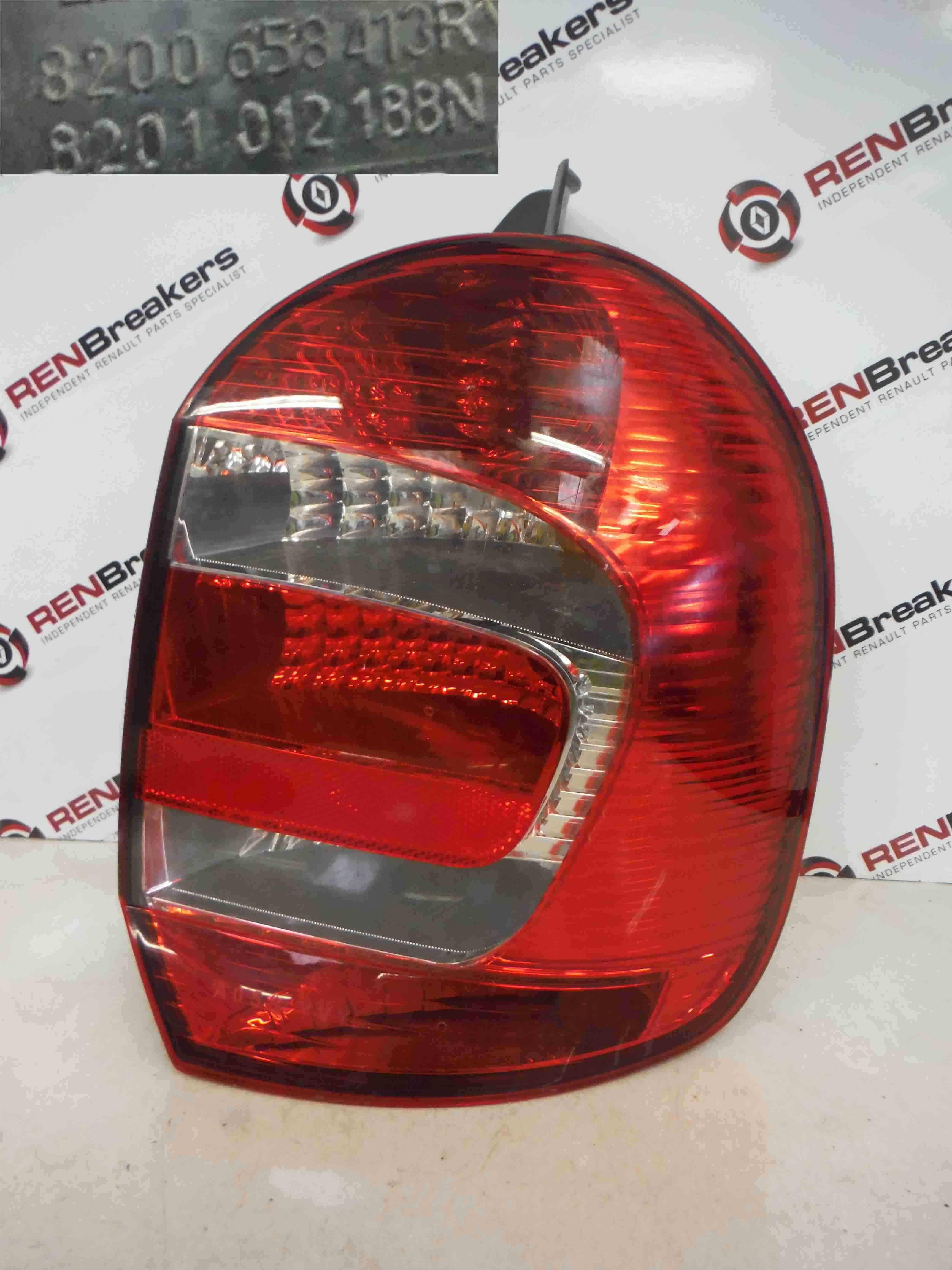 Renault Grand Modus 2008-2012 Drivers OSR Rear Light Lenz 8200658413 8201012188