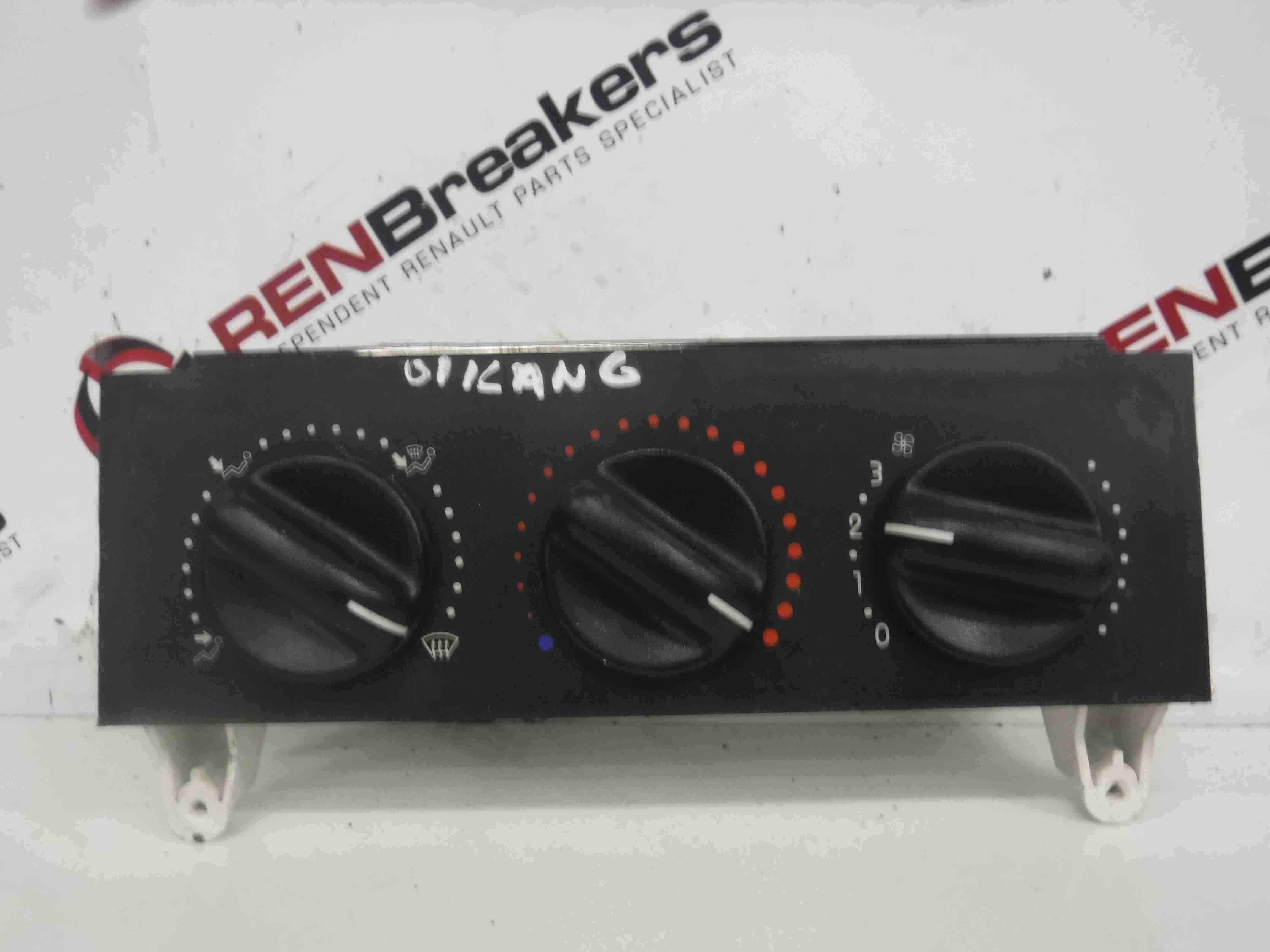 Renault Kangoo 1993-2003 Heater Controls Panel Switches