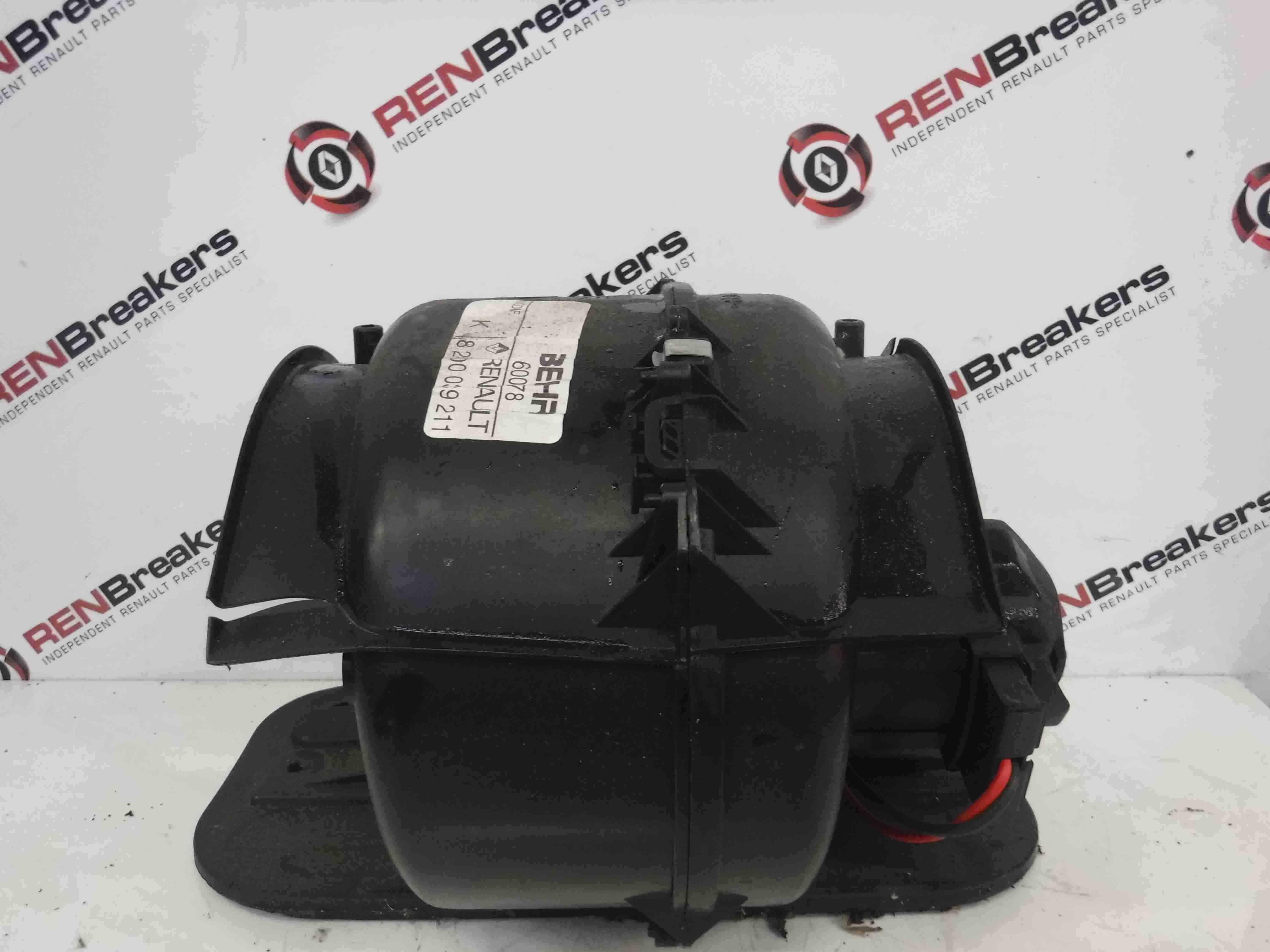 Renault Kangoo 2003-2007 Heater Motor Blower Fan 8200039211