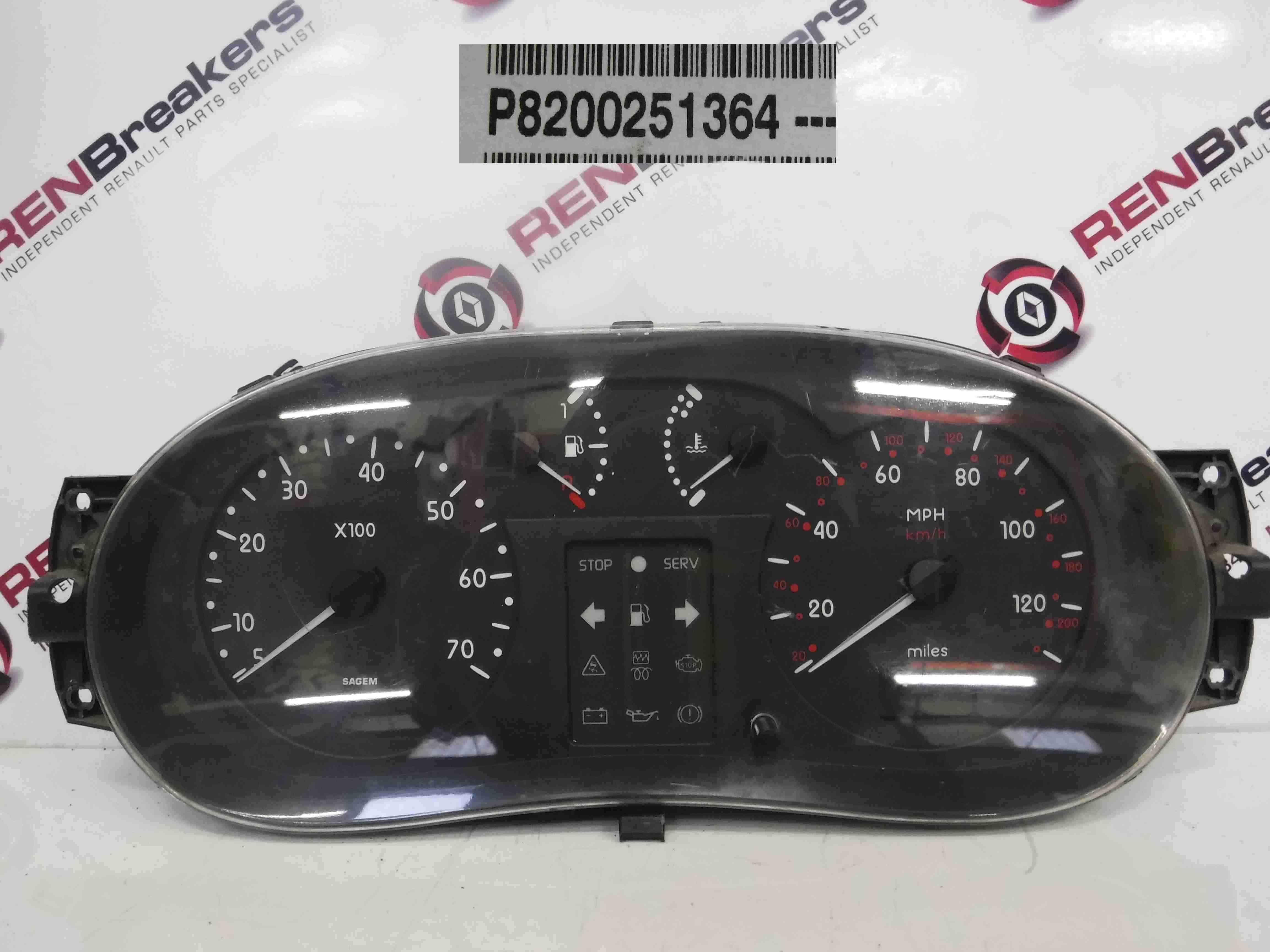 Renault Kangoo 2003-2007 Instrument Panel Dials Gauges Clocks 8200251364