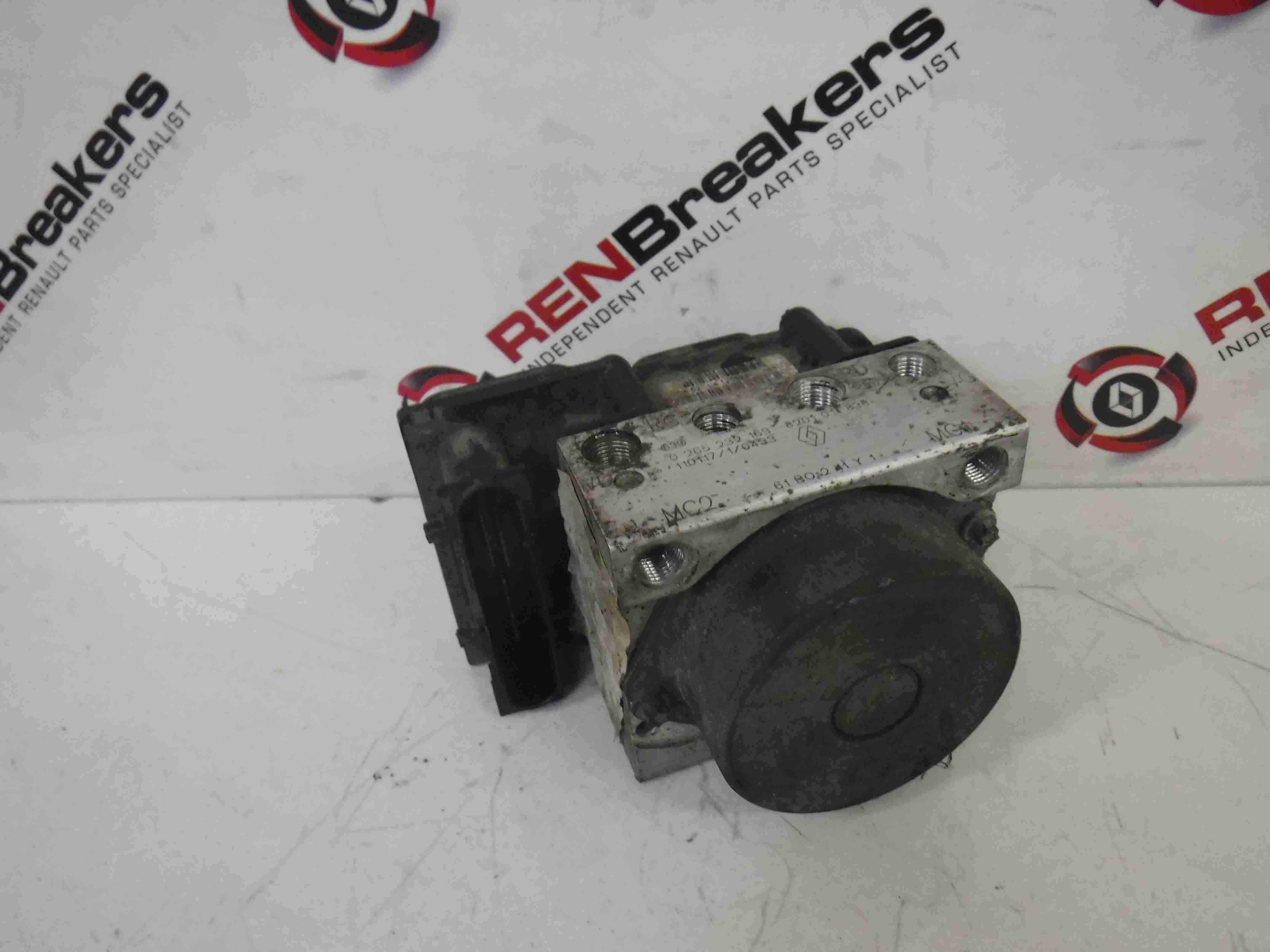 Renault Kangoo 2007-2017 ABS Pump Unit 8201011838 0265232163
