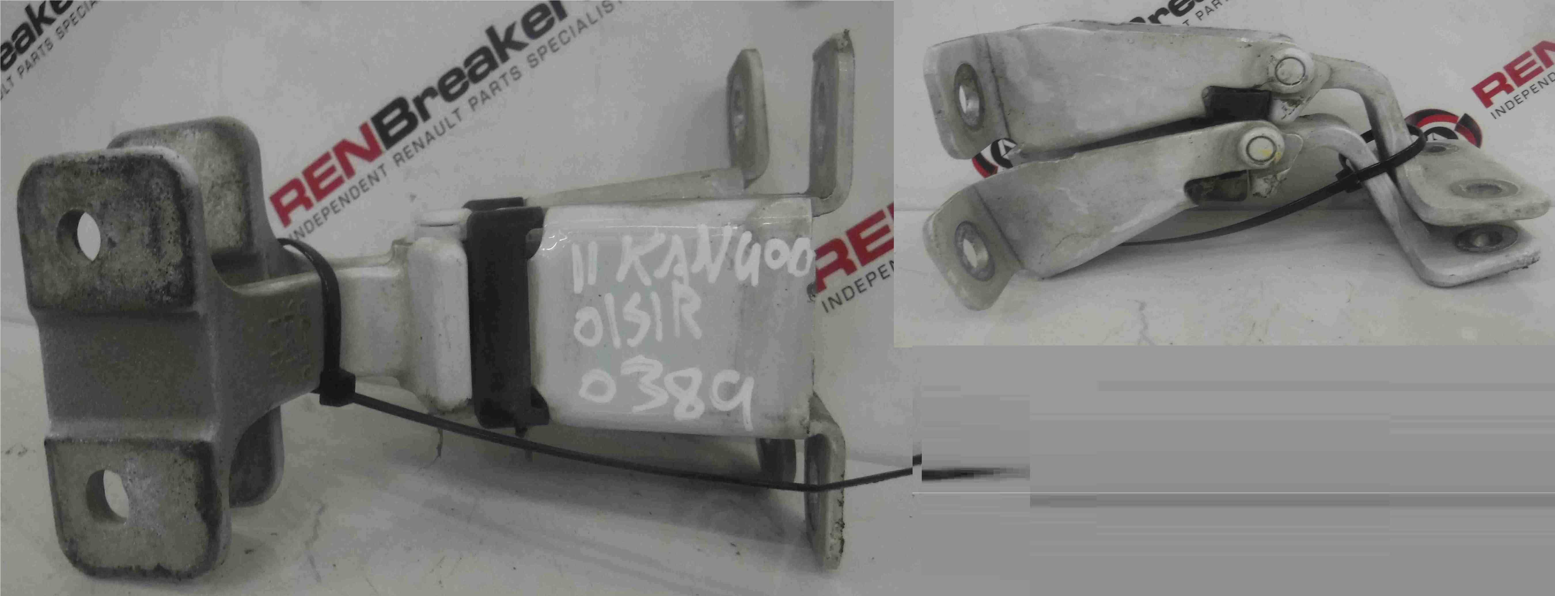 Renault Kangoo 2007-2017 Drivers OSR Rear Door Hinges Pair White O389 117113602D