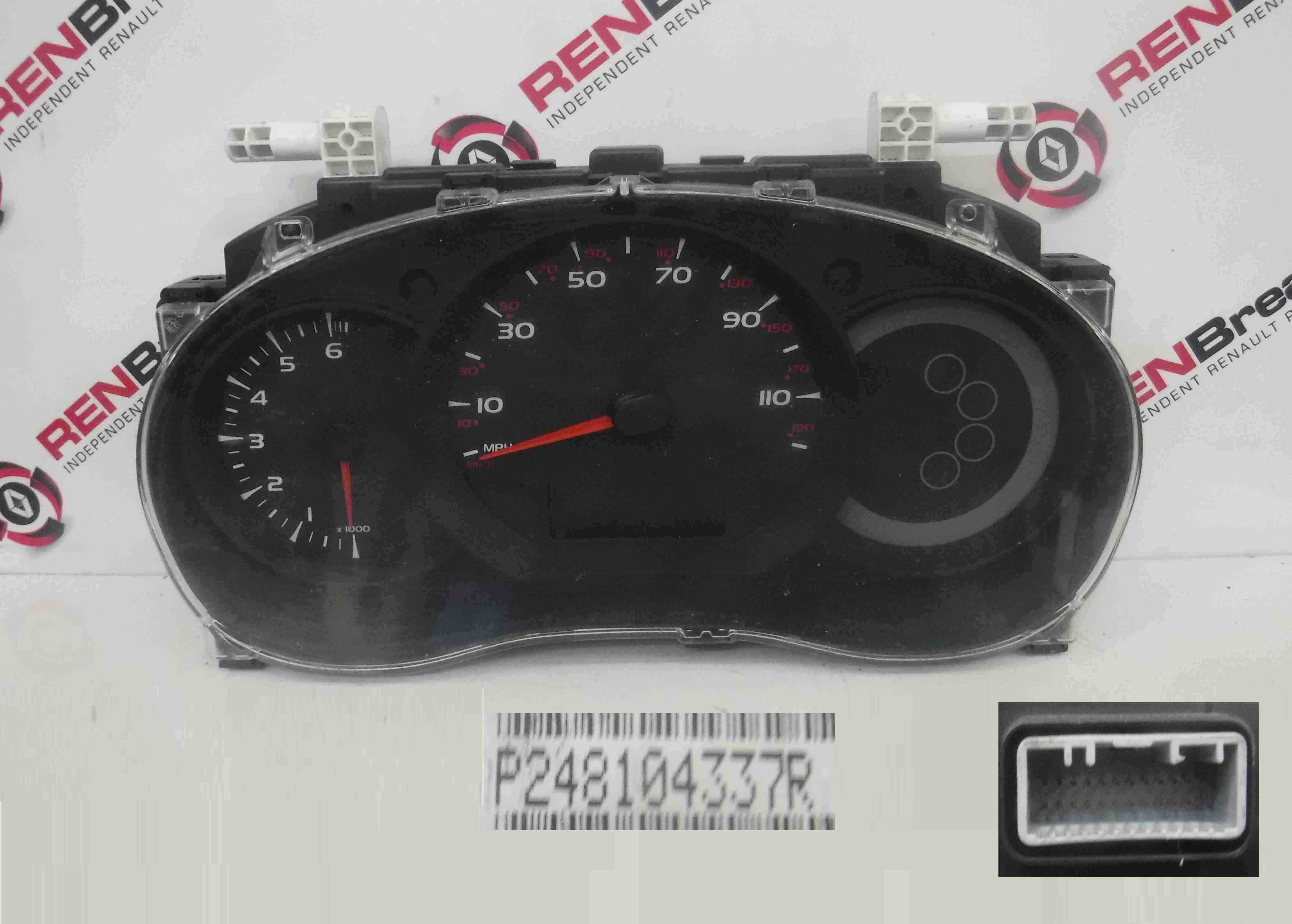 Renault Kangoo 2007-2017 Instrument Panel Dials Gauges Clocks 248104337R