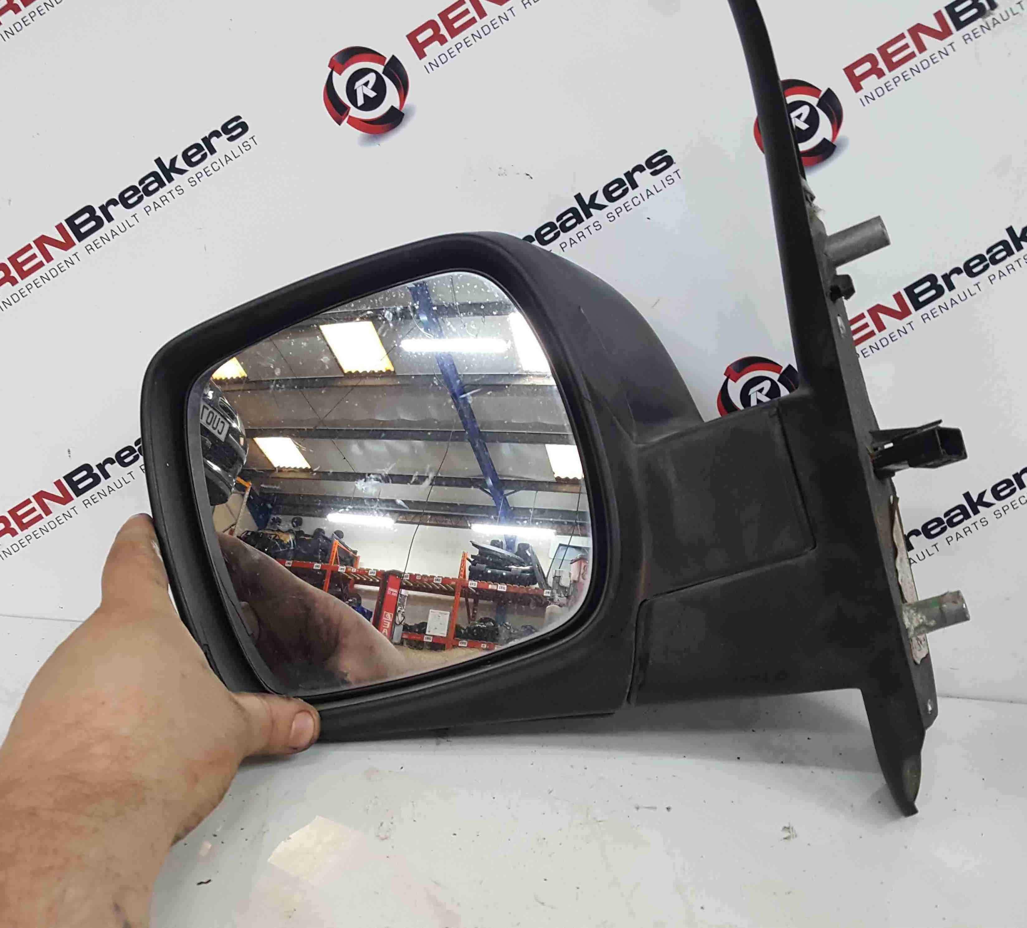 Renault Kangoo 2007-2017 Passenger NS Wing Mirror Plain Black Folding