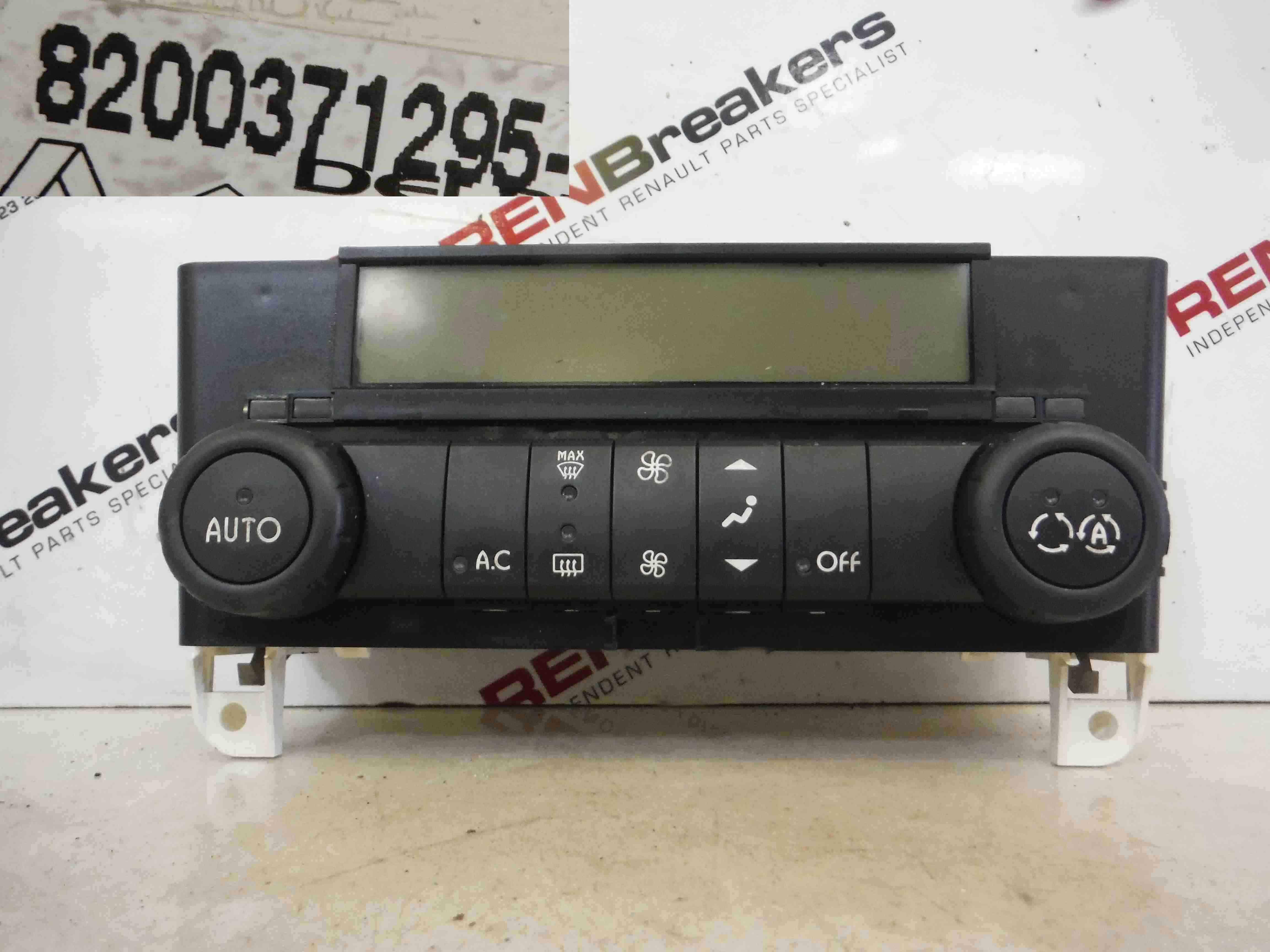 Renault Laguna 2005-2007 Heater Controls Dials Gauges Digital 8200371295