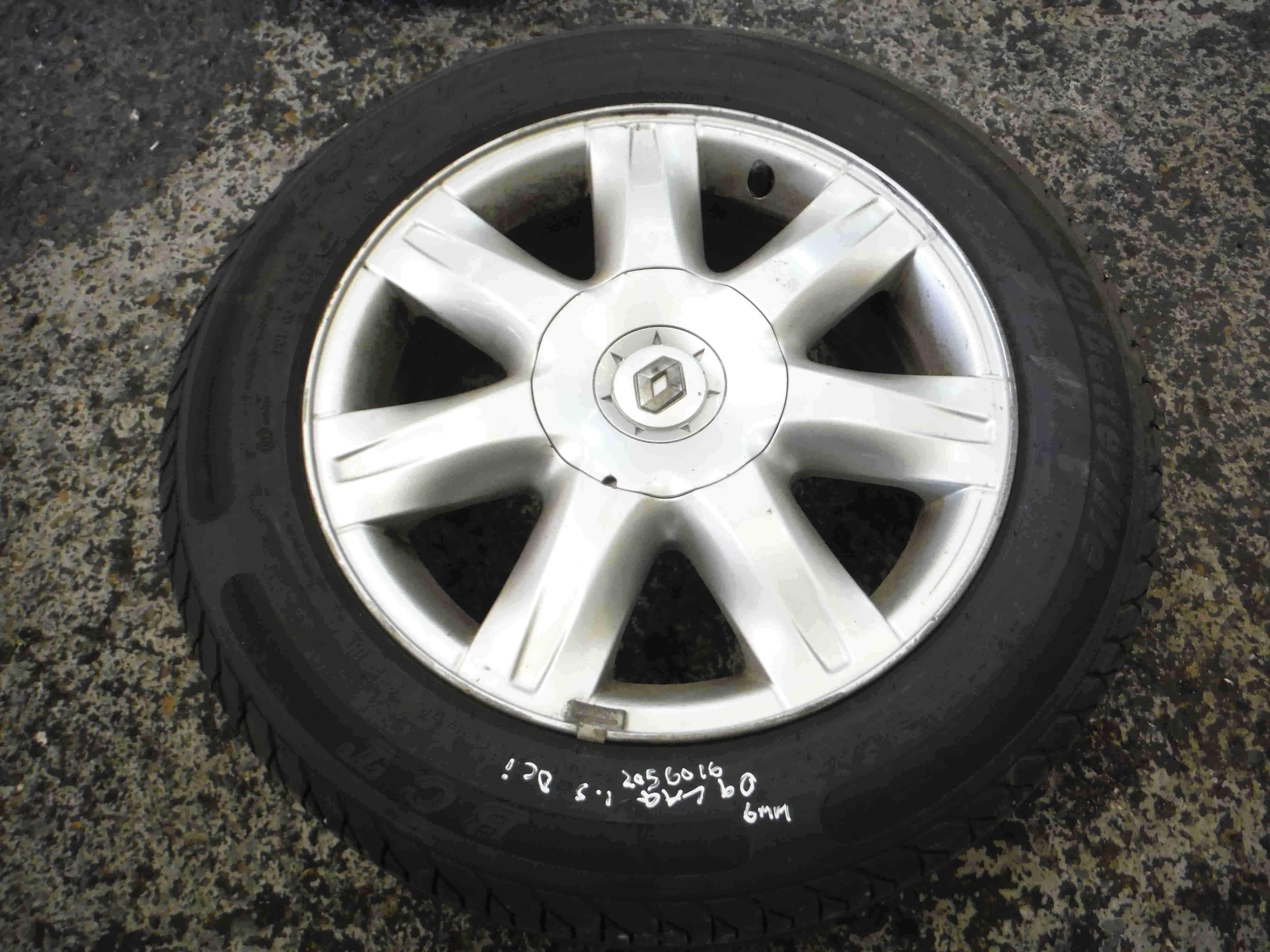 Renault Laguna 2007-2010 Alloy Wheel Standard  Tyre 205 60 16 5mm inch Paradise